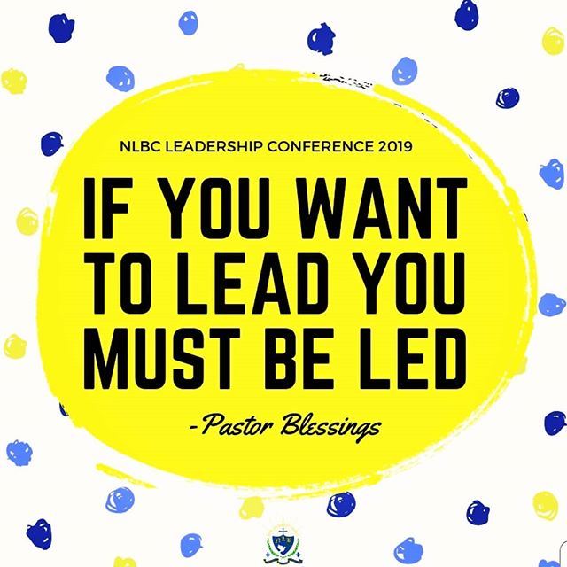 Are you able to follow ? Great leaders follow Christ!  #noquestionsaboutit #nlbcleadershipconference2019 #newlife #leadership