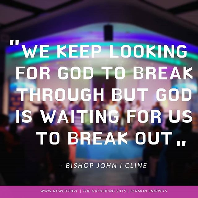 Break OUT of that cycle and break THROUGH with a bit of praise.  #newlifebaptistchurch #breakout #breakthrough #sermonsnippet