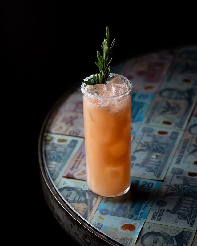 The Cranky Coyote has vodka, grapefruit, rosemary and lime. A drink for all moods.