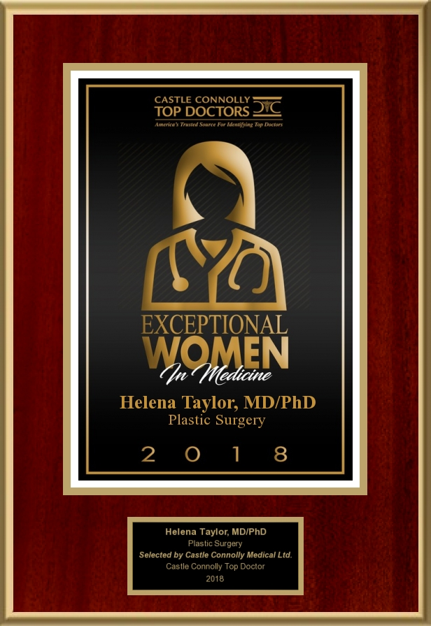 Castle Connolly   Dr. Helena Taylor is a 2018 recipient of Exceptional women in medicine, selected by her medical peers from across the U.S. This honor is given to only the Women who are leaders in Medicine.