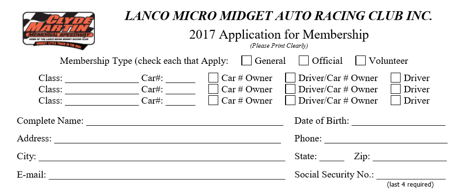 Click the image to download the full membership application form.
