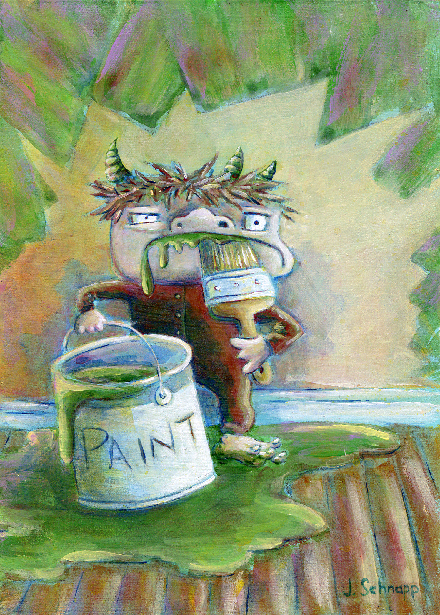 Paint Monster #2 by Jonathan Schnapp