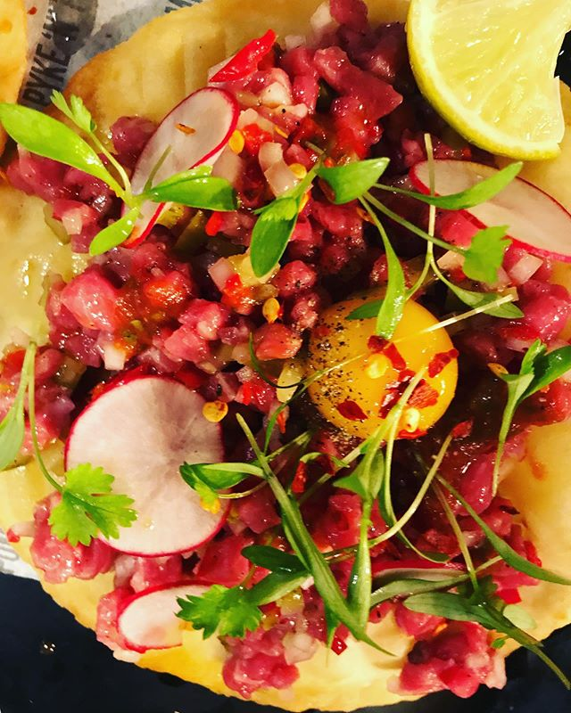 Evening Derry City! have any of you ever tried our Beef Tartare taco?  Wagyu Fillet hot sauce fresh chilli etc etc! She's good man ✌🏼