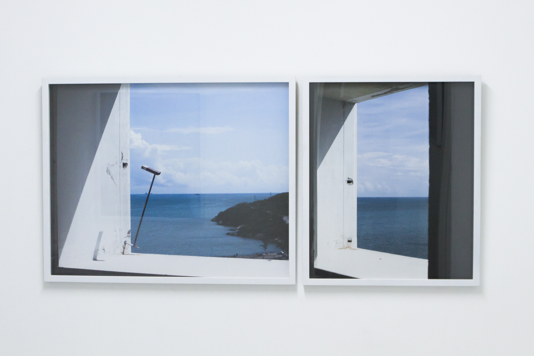 "Window II   (  Diptych) , 2016.   Installation View, ""FORUM"" at NLS Kingston - Kingston, Jamaica.       Photographic C-Print on Kodak Endura Paper –   24x 36, 24x19 in."