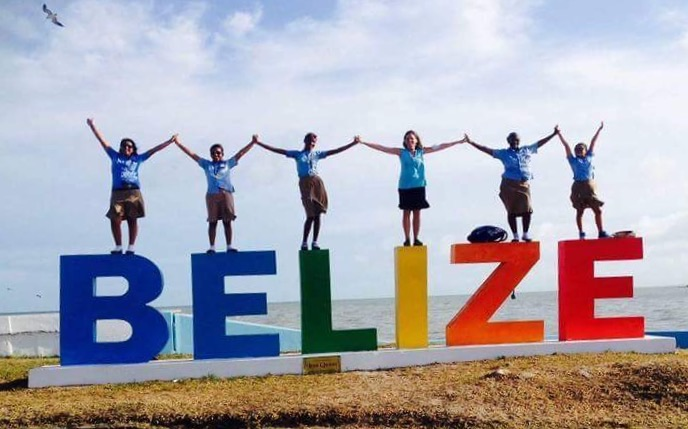 Students from the Ocean Academy, Caye Caulker, Belize. YDCCF provided a grant to improve infrastructure; purchase equipment for environmental workshops; help obtain a tour operator license for the student entrepreneur programs; and provide scholarships.