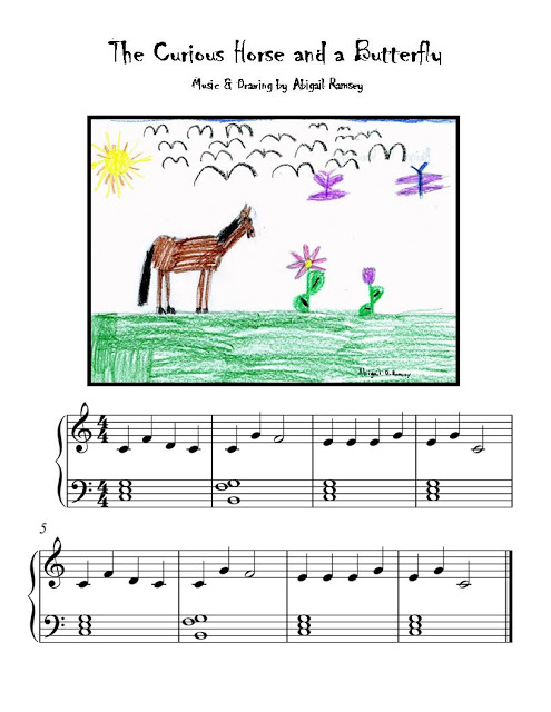 Harmony Road 2 student Abigail's (age 6) composition