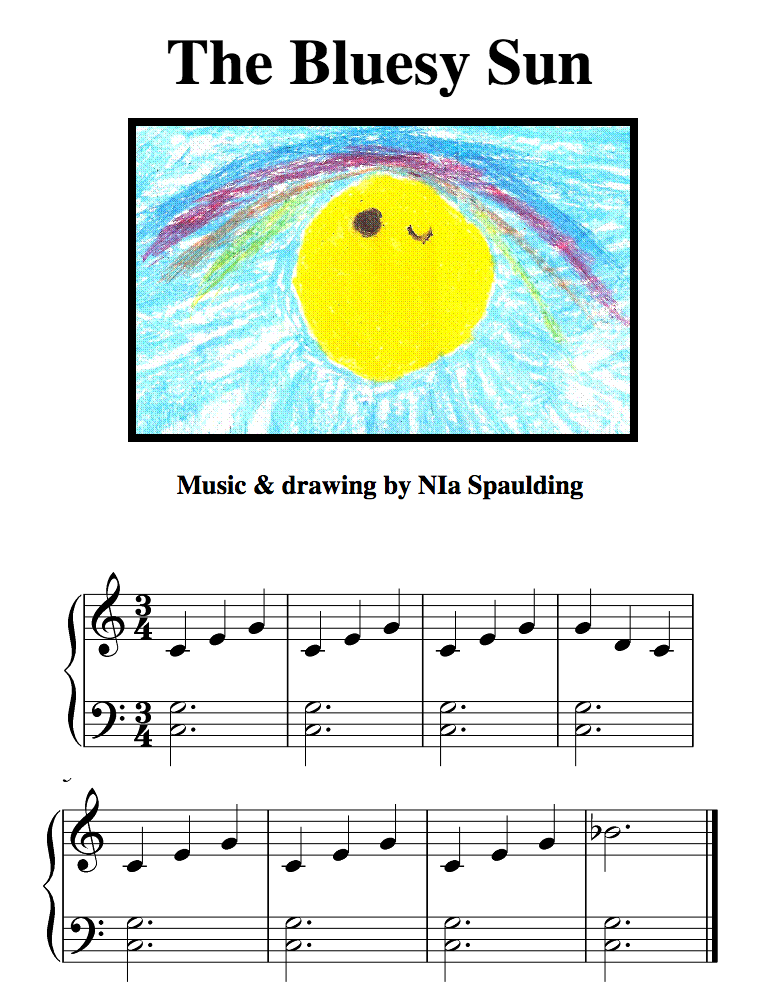 Harmony Road 2 student Nia's (age 6) composition