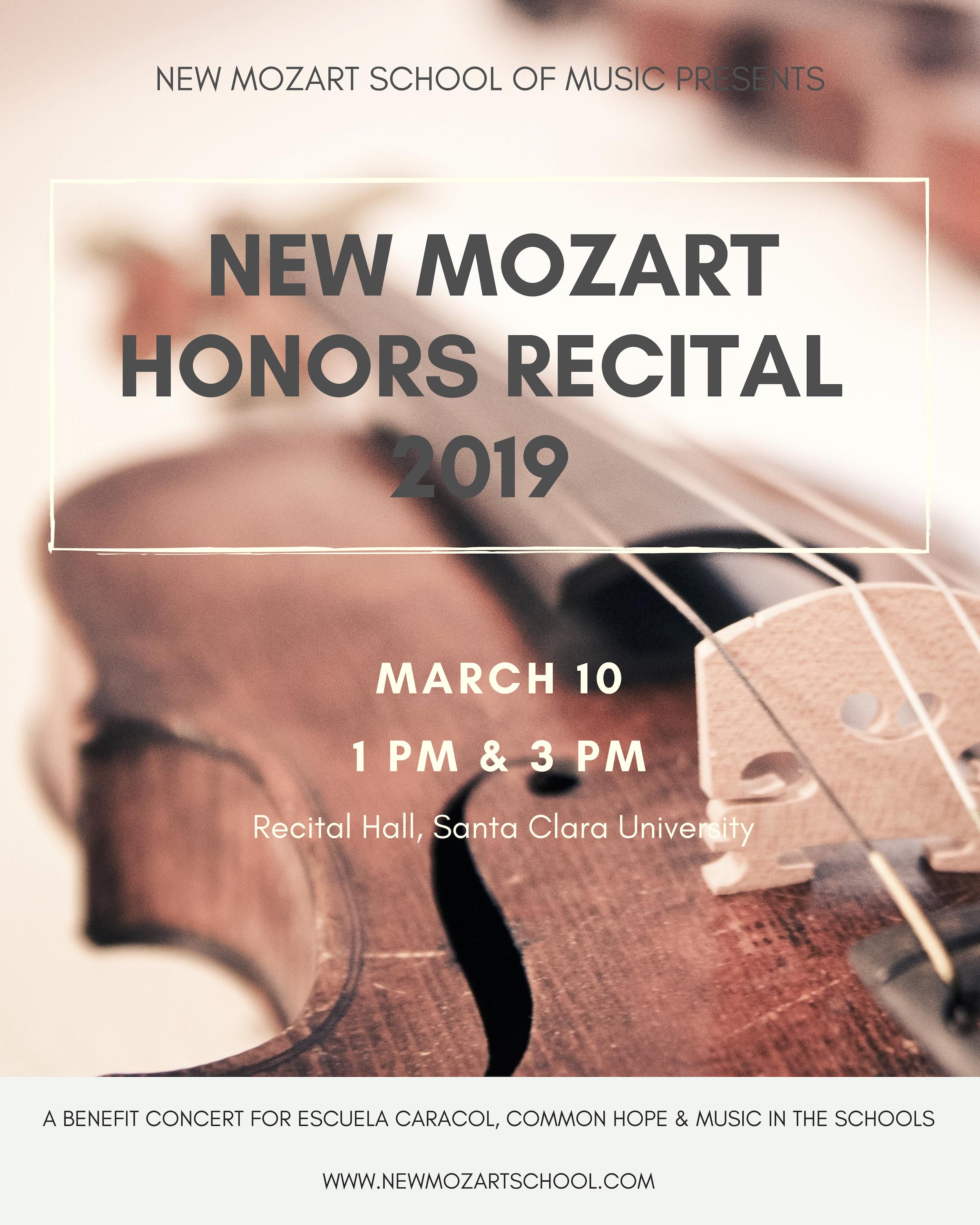 Honors Recital new mozart 2019