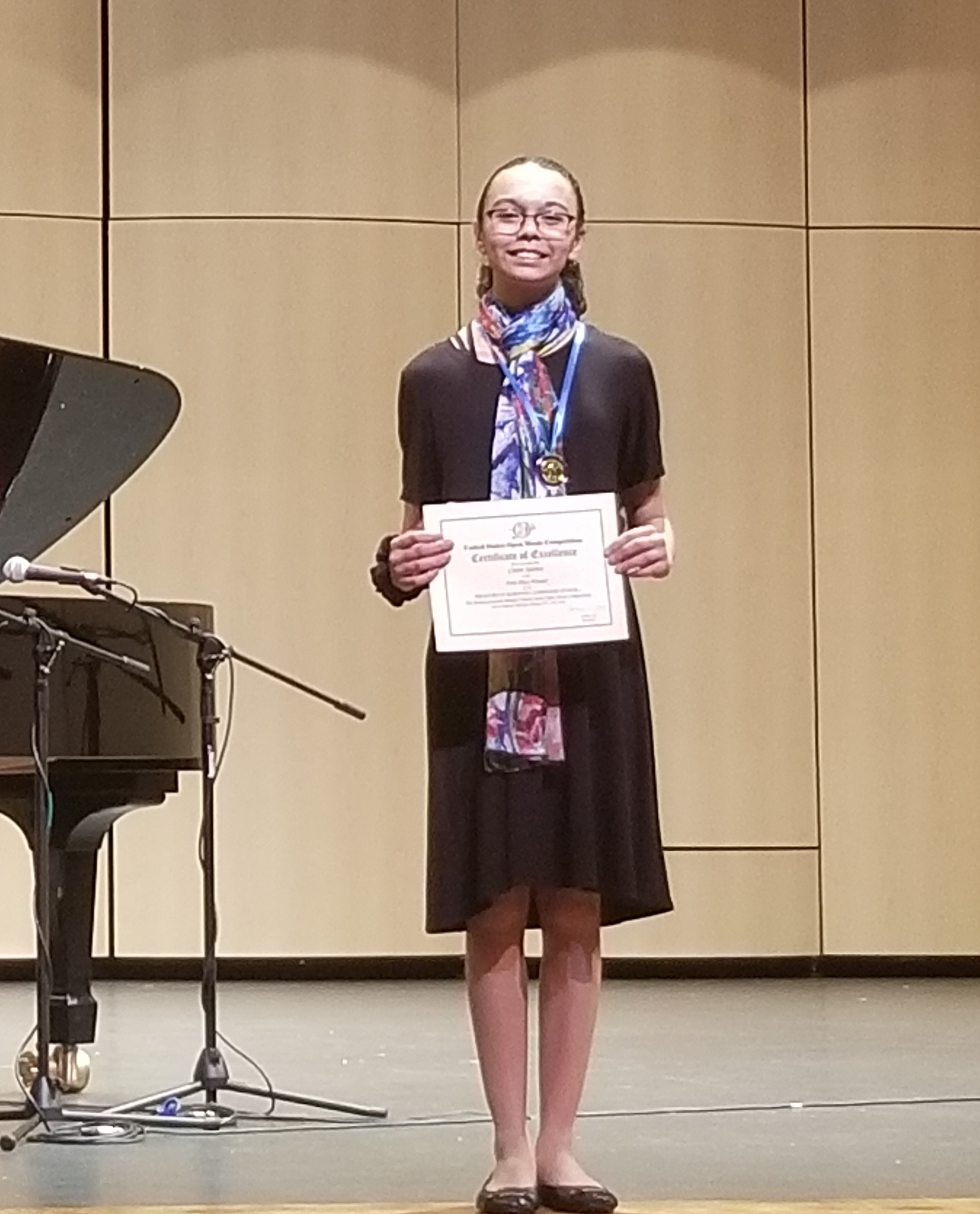 Claire S. at US Open Piano Competition