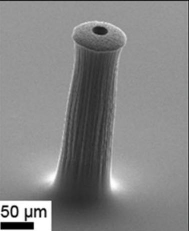 Carbon nanotube-polyimide composite micro-needle