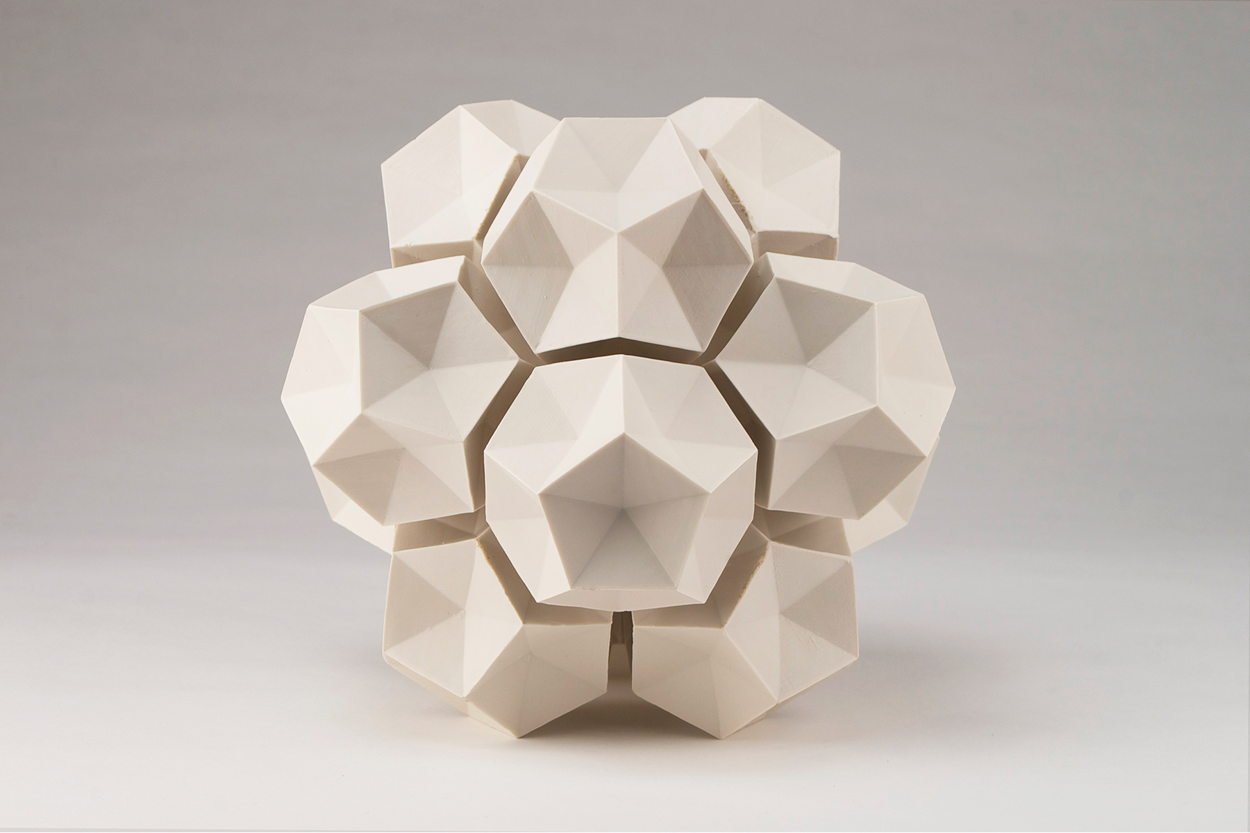 Dodecahedron Construction  |  14 x 14 x 14 inches  |  Porcelain  |  2016