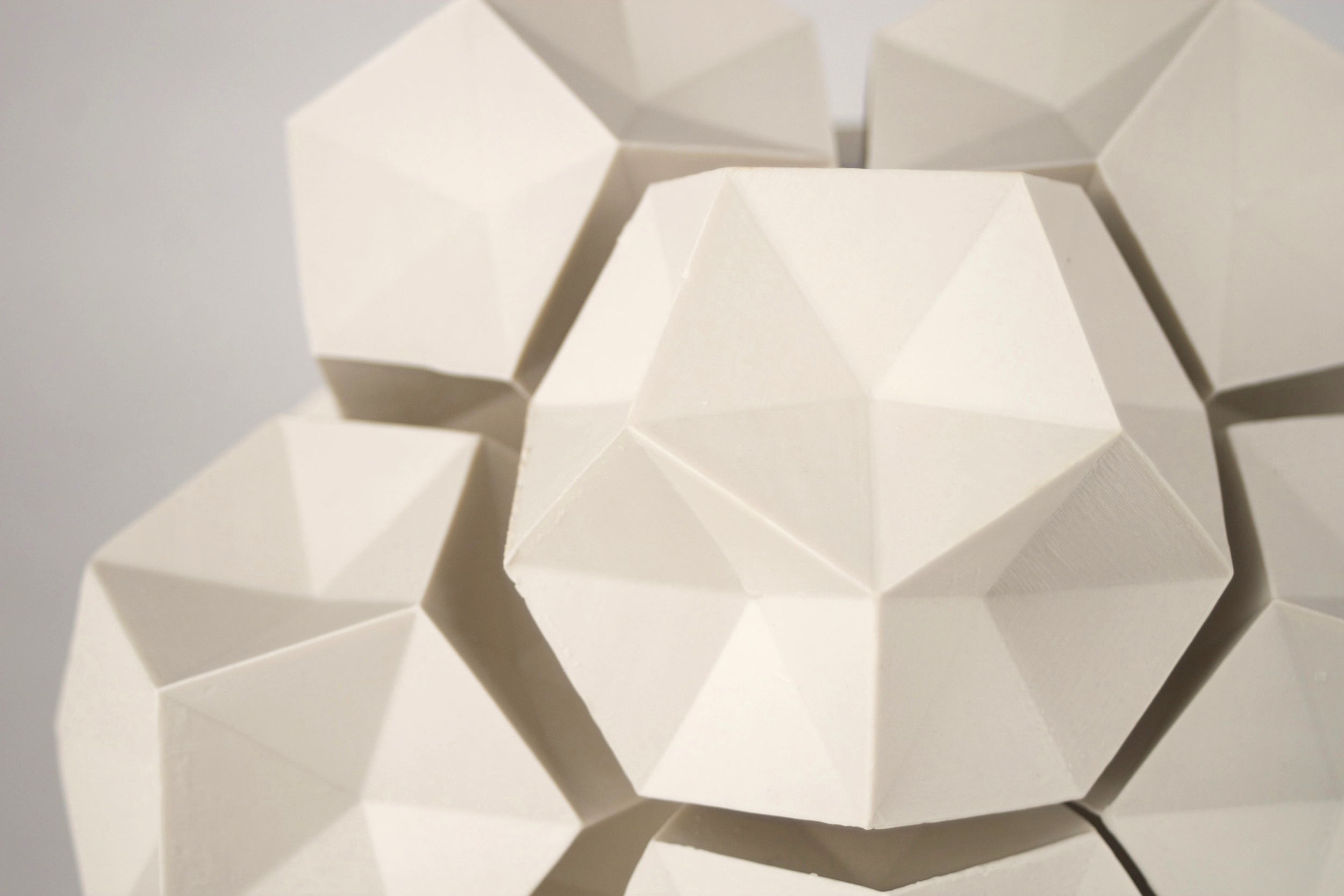 Dodecahedron Construction (Detail)  |  14 x 14 x 14 inches  |  Porcelain  |  2016