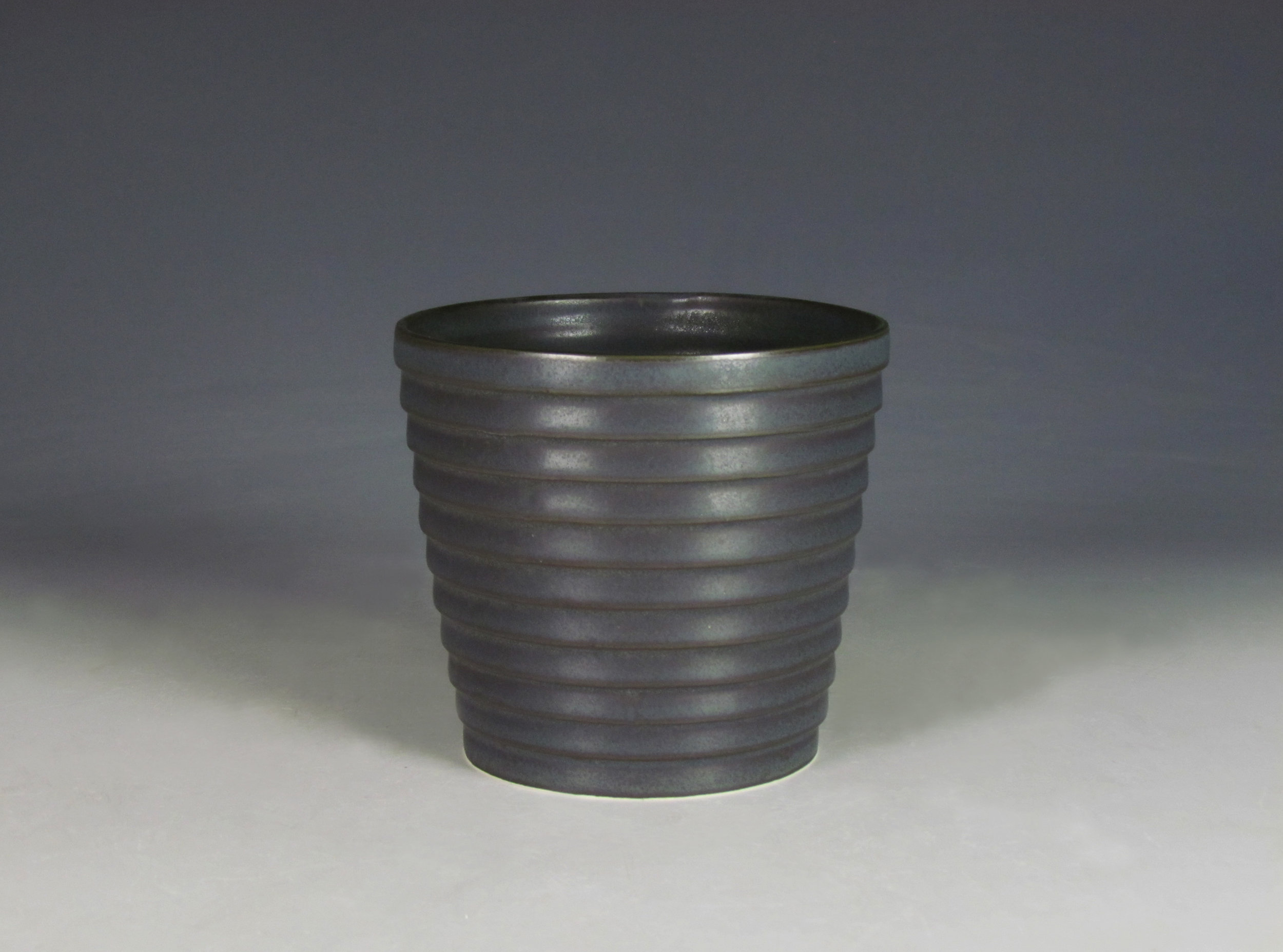 Cup (Black)  |  6 x 4 x 4 inches  |  Porcelain, Glaze  |  2016