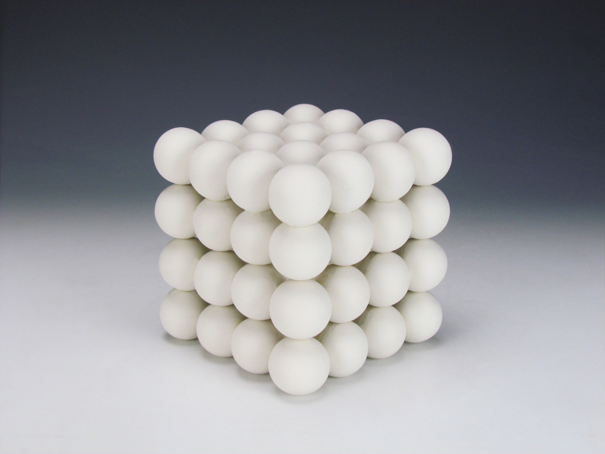 Ionic Series: Cubic Construction  |  6 x 6 x 6 inches  |  Porcelain  |  2016