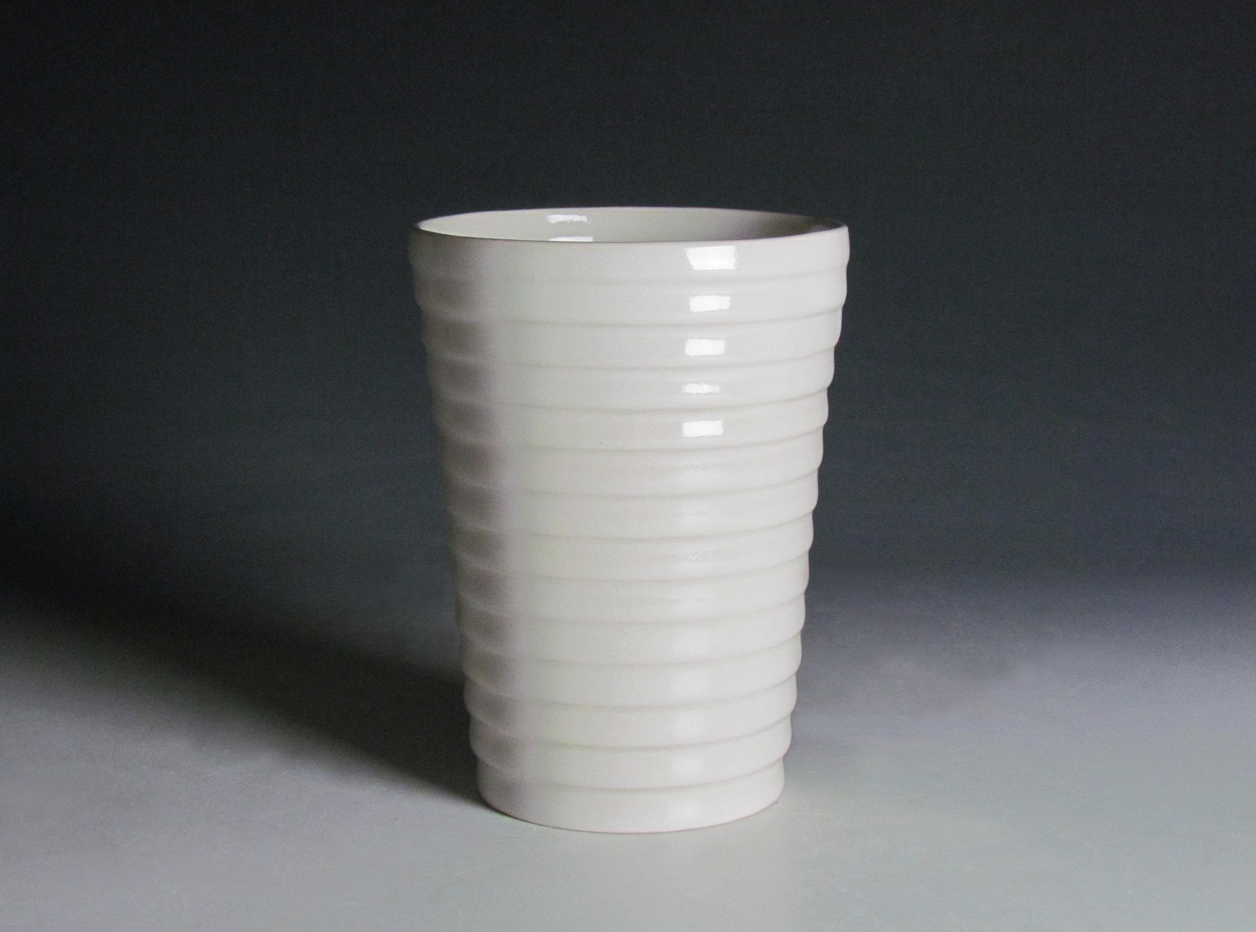 Tumbler (White)  |  7 x 3 x 3 inches  |  Porcelain, Glaze  |  2016