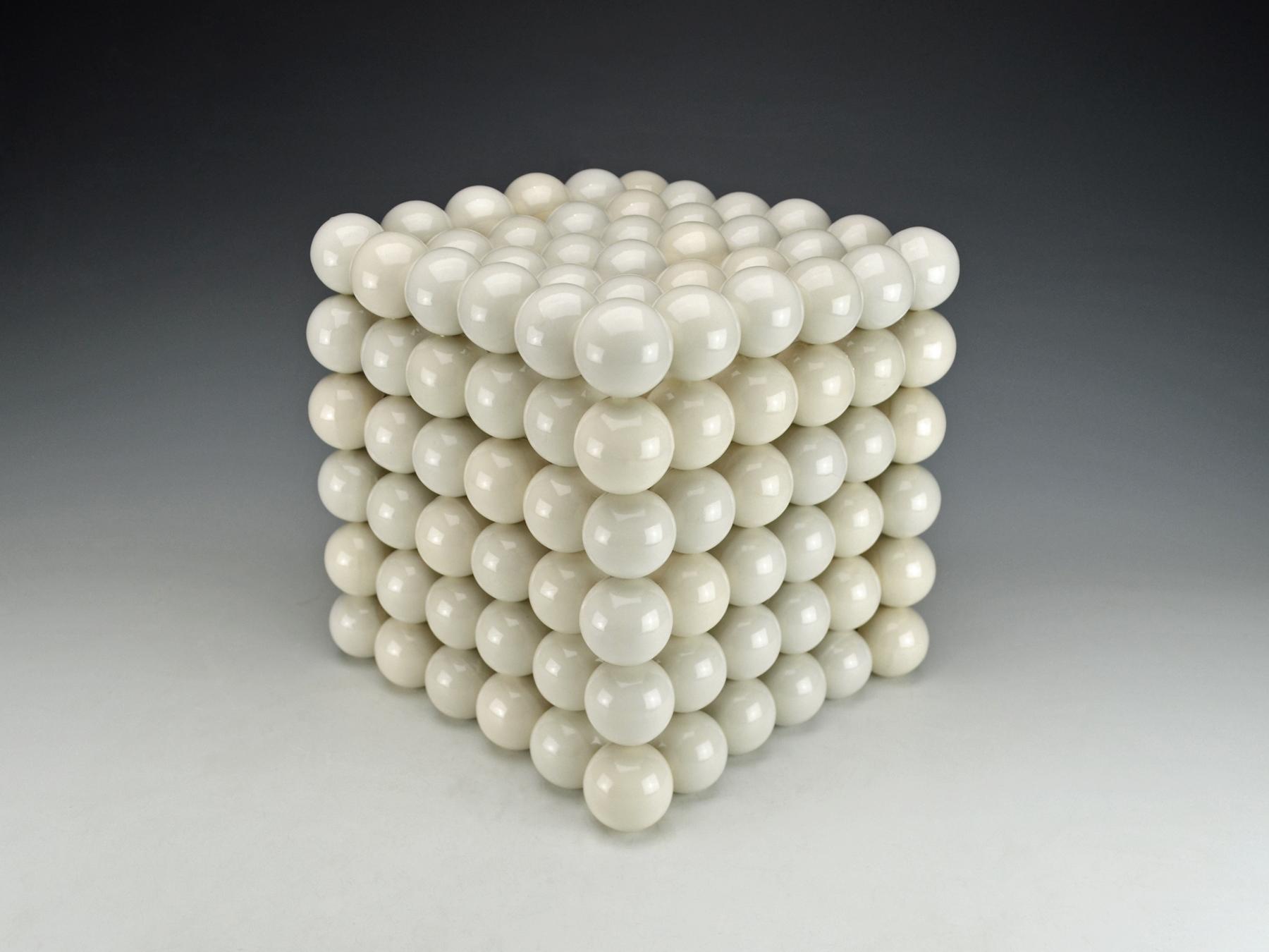 Ionic Series: Cubic Construction  |  13 x 13 x 13 inches  |  Porcelain, Glaze  |  2017