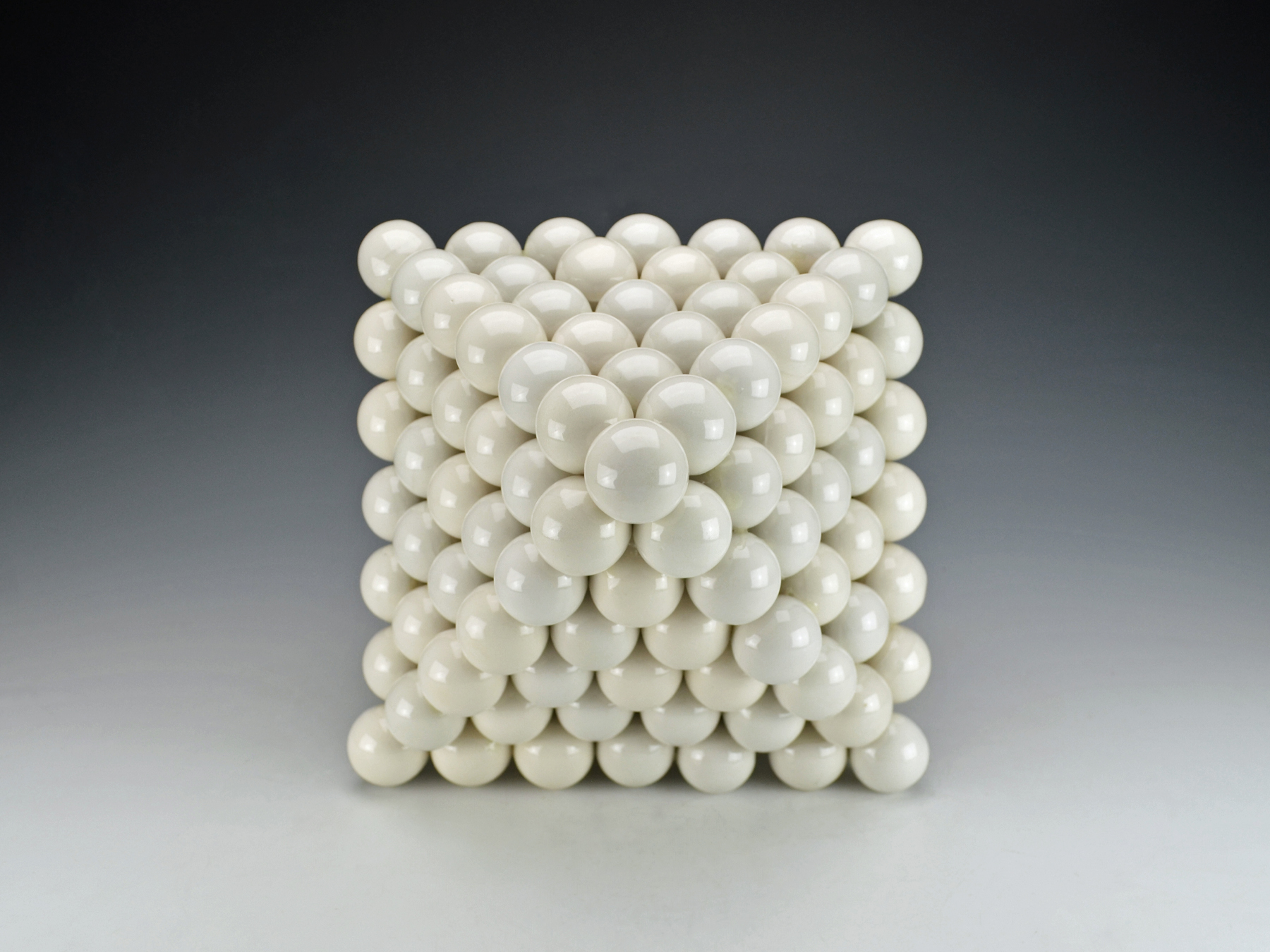 Ionic Series: Octahedron  |  13 x 13 x 16 inches  |  Porcelain, Glaze  |  2017