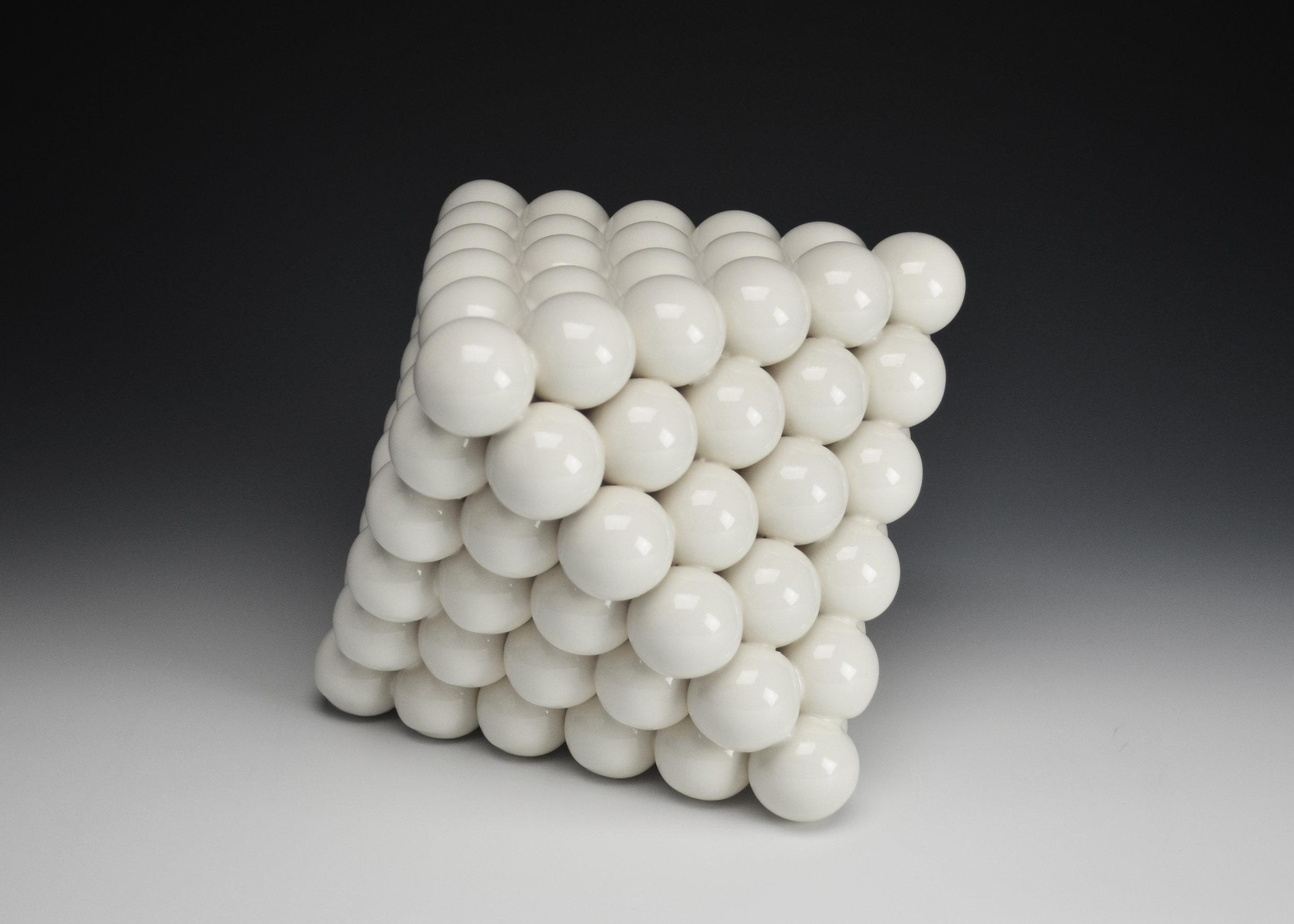 Ionic Series: Octahedron  |  8 x 8 x 12 inches  |  Porcelain, Glaze  |  2017