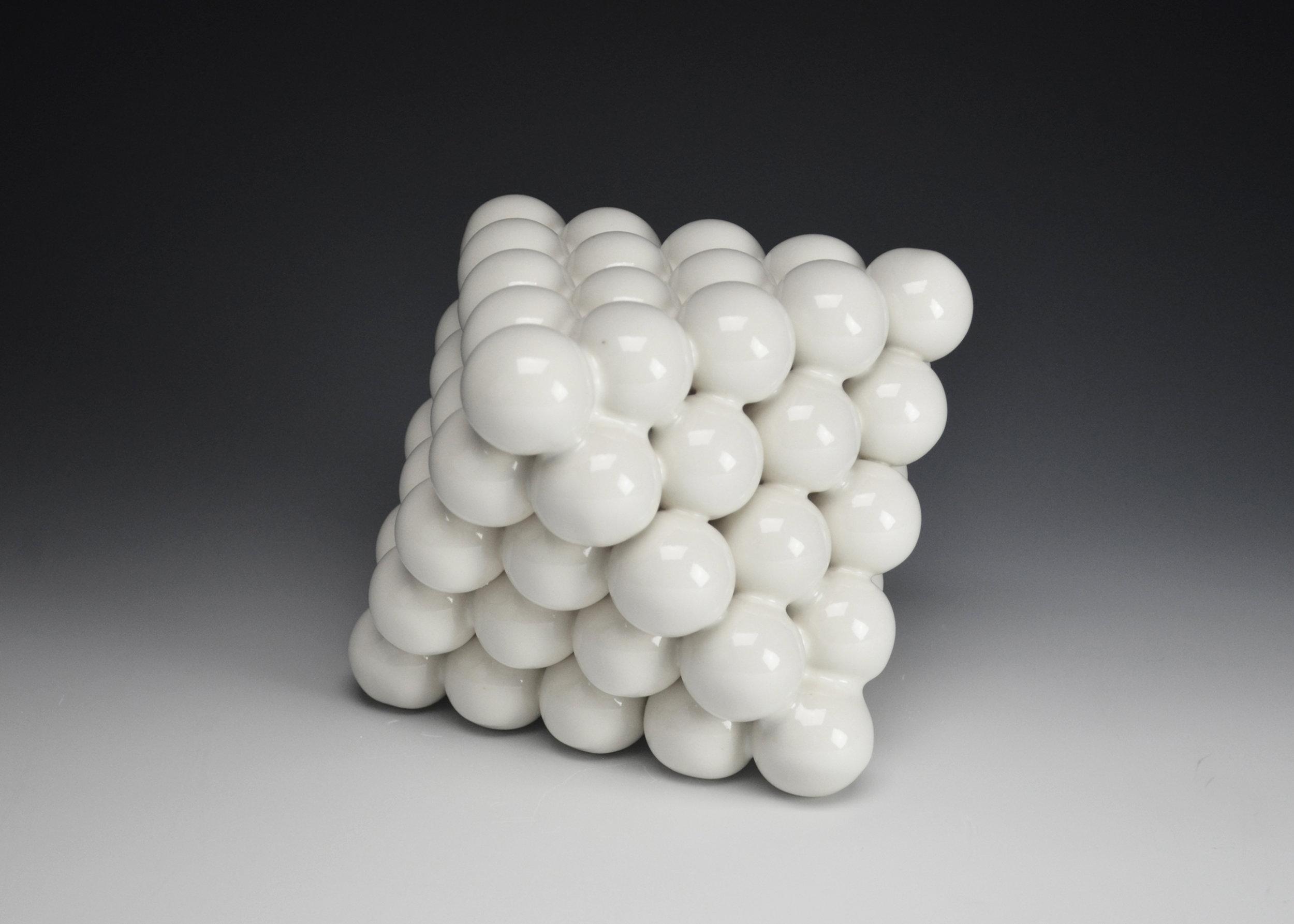 Ionic Series: Octahedron  |  6.5 x 6.5 x 9 inches  |  Porcelain, Glaze  |  2017