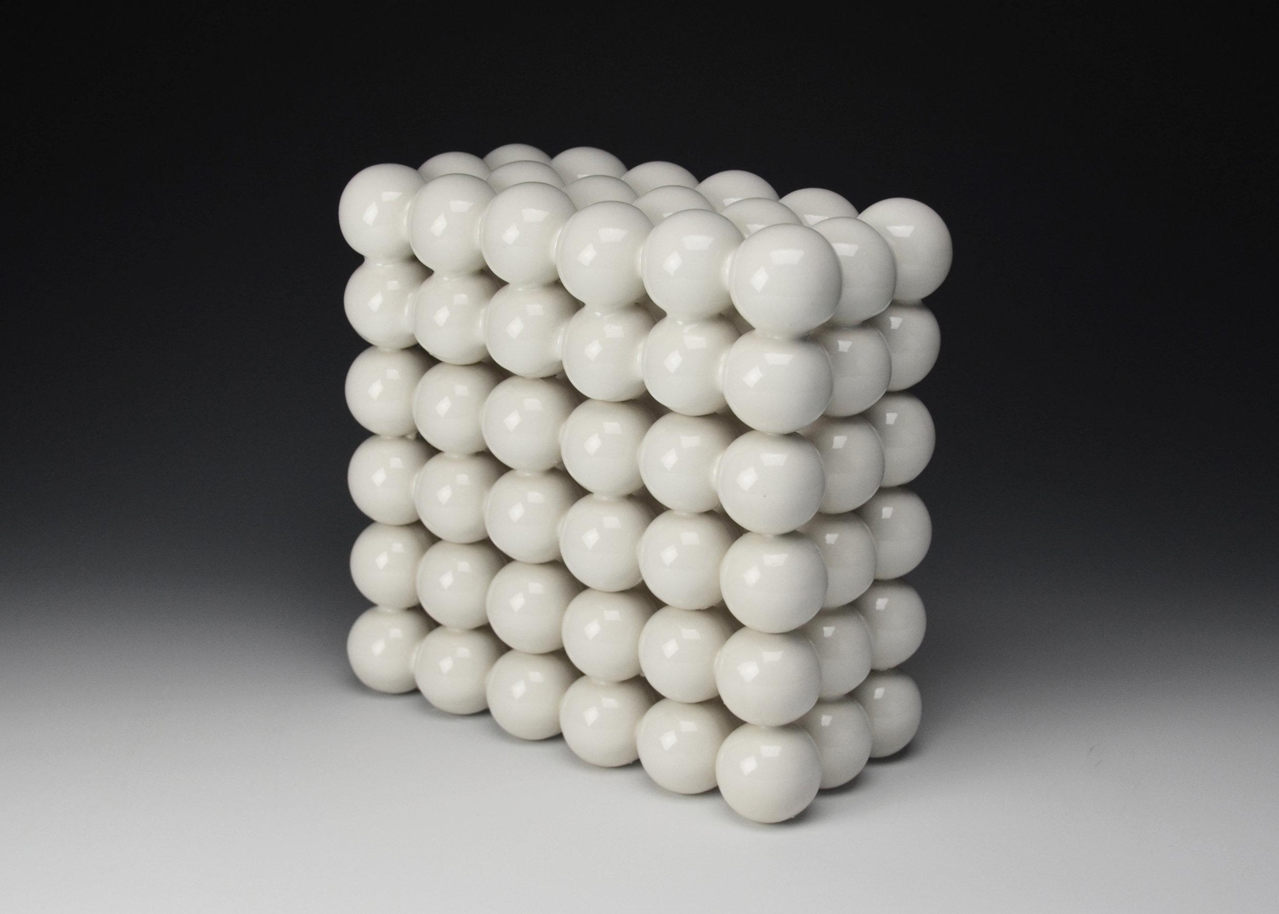 Ionic Series: Construction V  |  8 x 8 x 4 inches  |  Porcelain, Glaze  |  2017