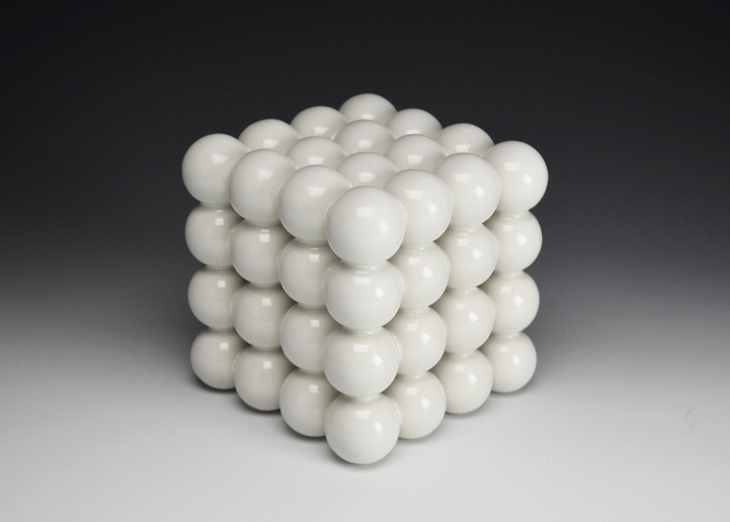 Ionic Series: Construction IV  |  5.5 x 5.5 x 5.5 inches  |  Porcelain, Glaze  |  2017