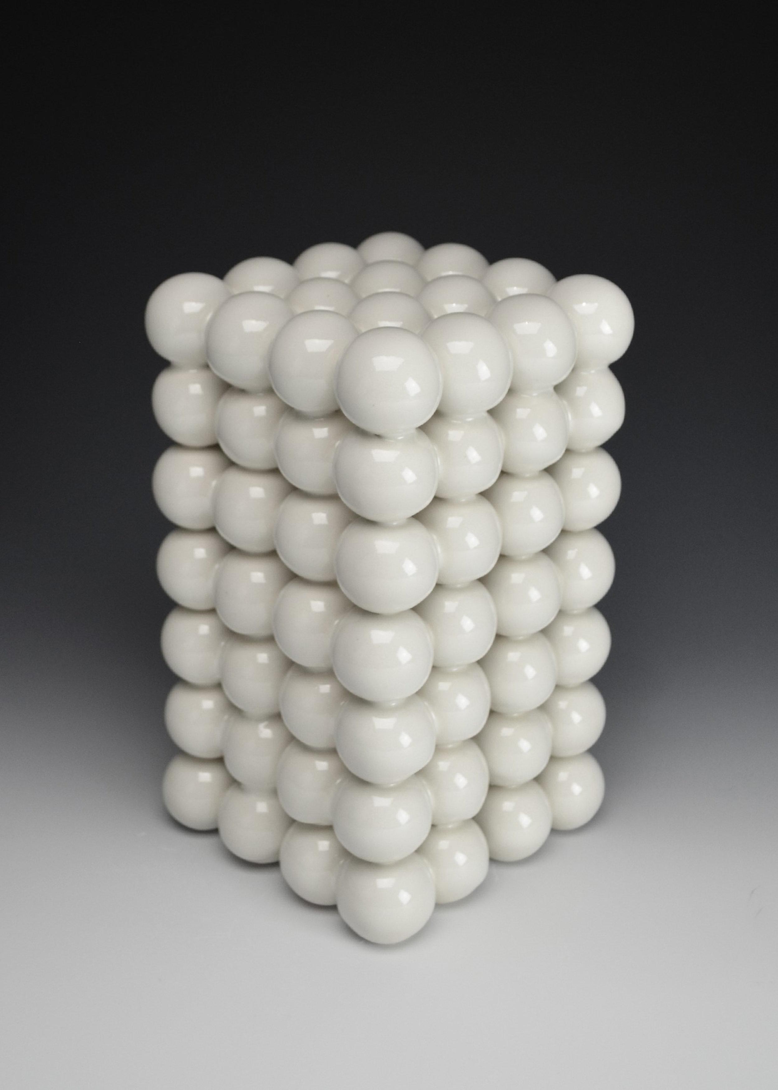 Ionic Series: Construction VII  |  9.5 x 5.5 x 5.5 inches  |  Porcelain, Glaze  |  2017