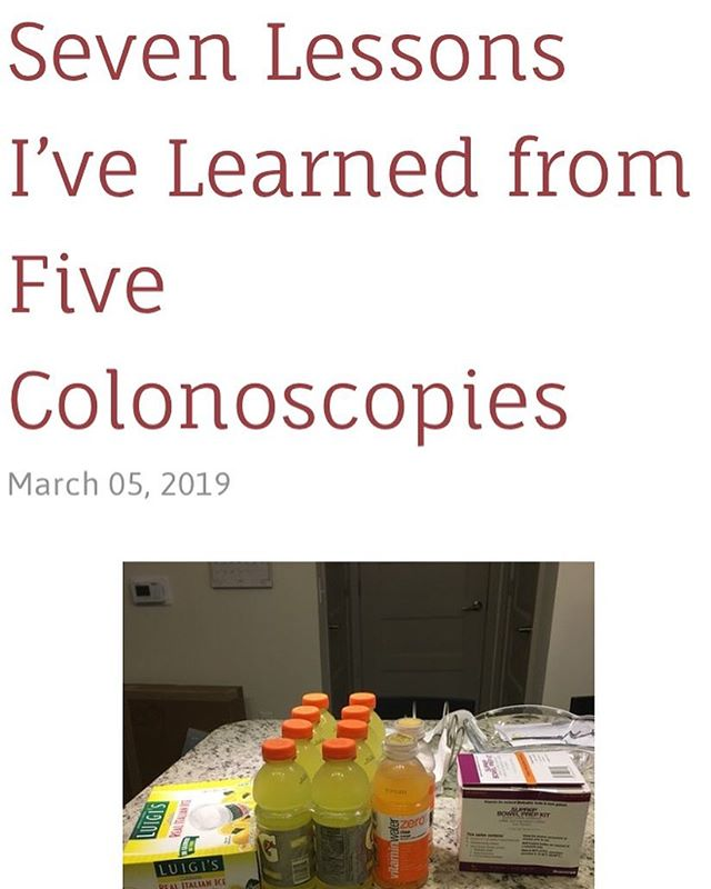 New blog post on Hope Inflamed on lessons I've learned to make a colonoscopy more bearable. What would you add to this? Link in bio. #ulcerativecolitis #crohnsdisease #ibd  #colonoscopy #colonoscopyprep #chronicillness #hopeinflamed