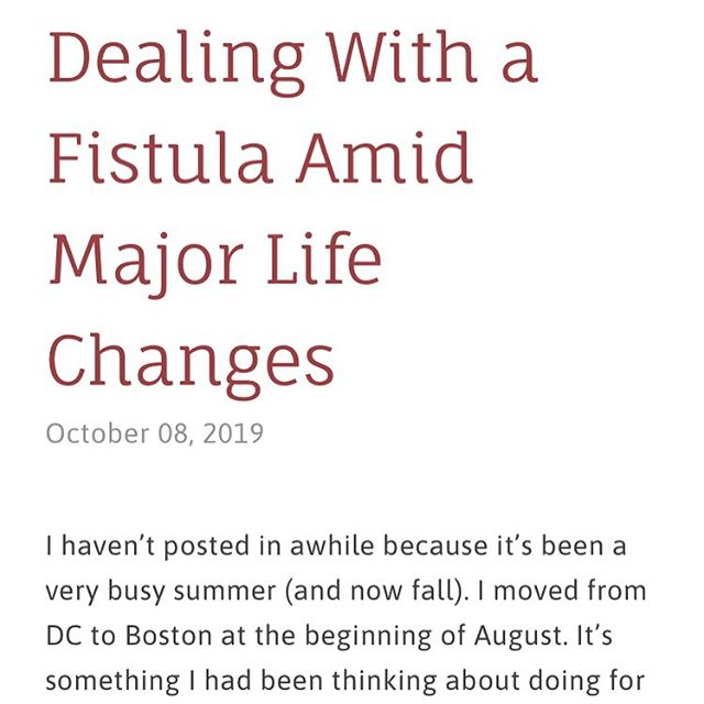 I know I haven't posted in awhile- I've been busy with some major life changes. But unfortunately chronic illness doesn't stop just because you're busy. I wrote an update post - link in bio! #ibd #fistula #chronicillness #crohnsdisease #ulcerativecolitis #hopeinflamed