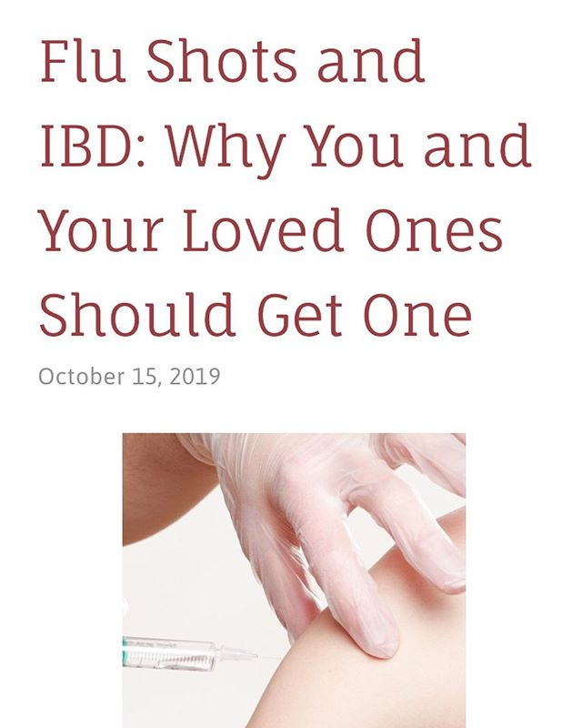 New blog post on flu shots and IBD. There is a lot of misinformation out there, but the flu shot is safe for most people with IBD. Link in bio. #hopeinflamed #ibd #ibdawareness #flushot