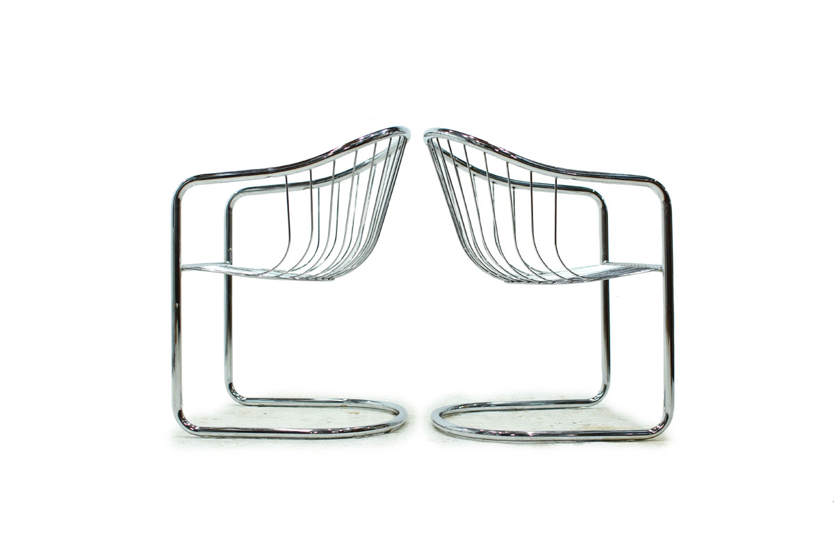 Mid Century Modern Chrome Chair
