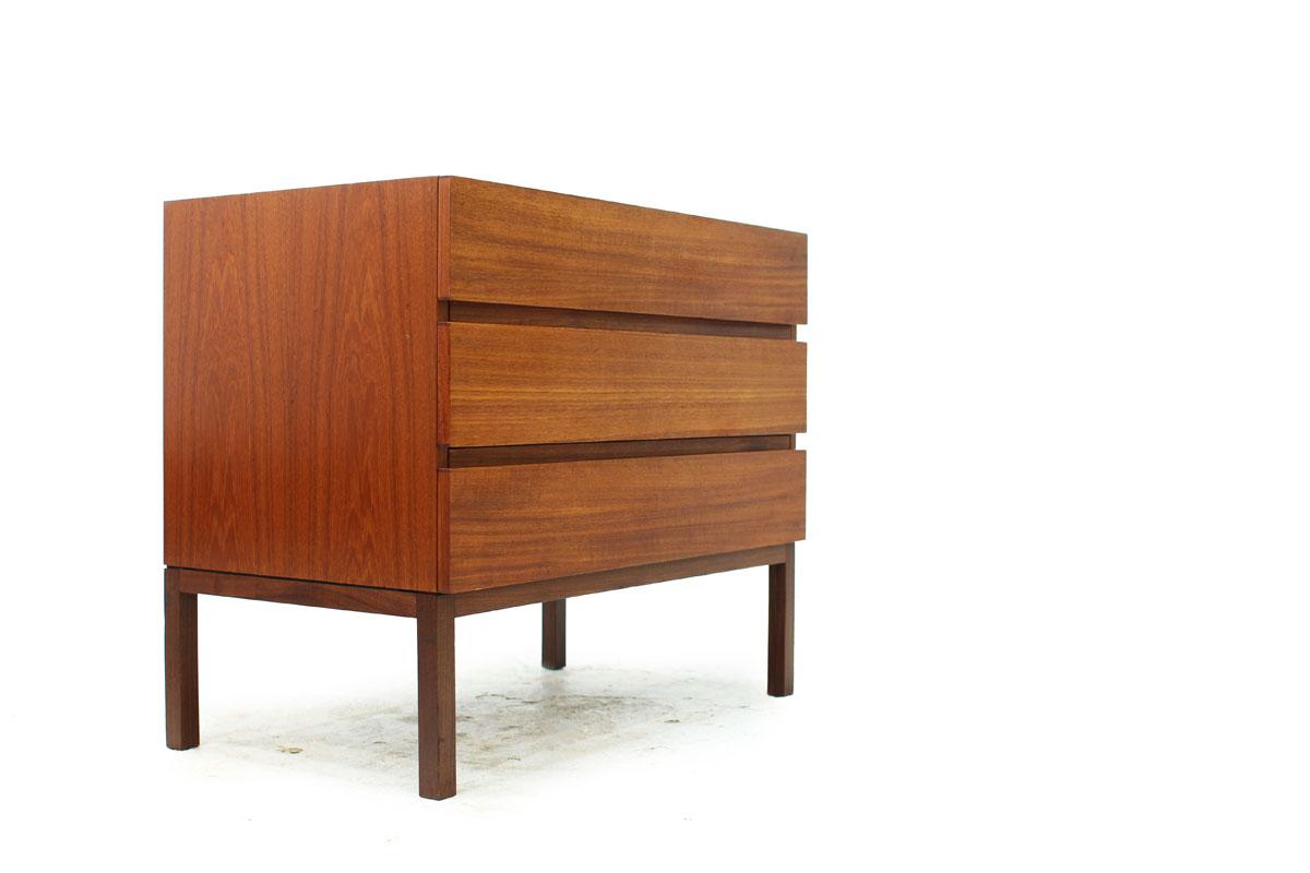Swedish MCM 3 Drawer Teak Dresser