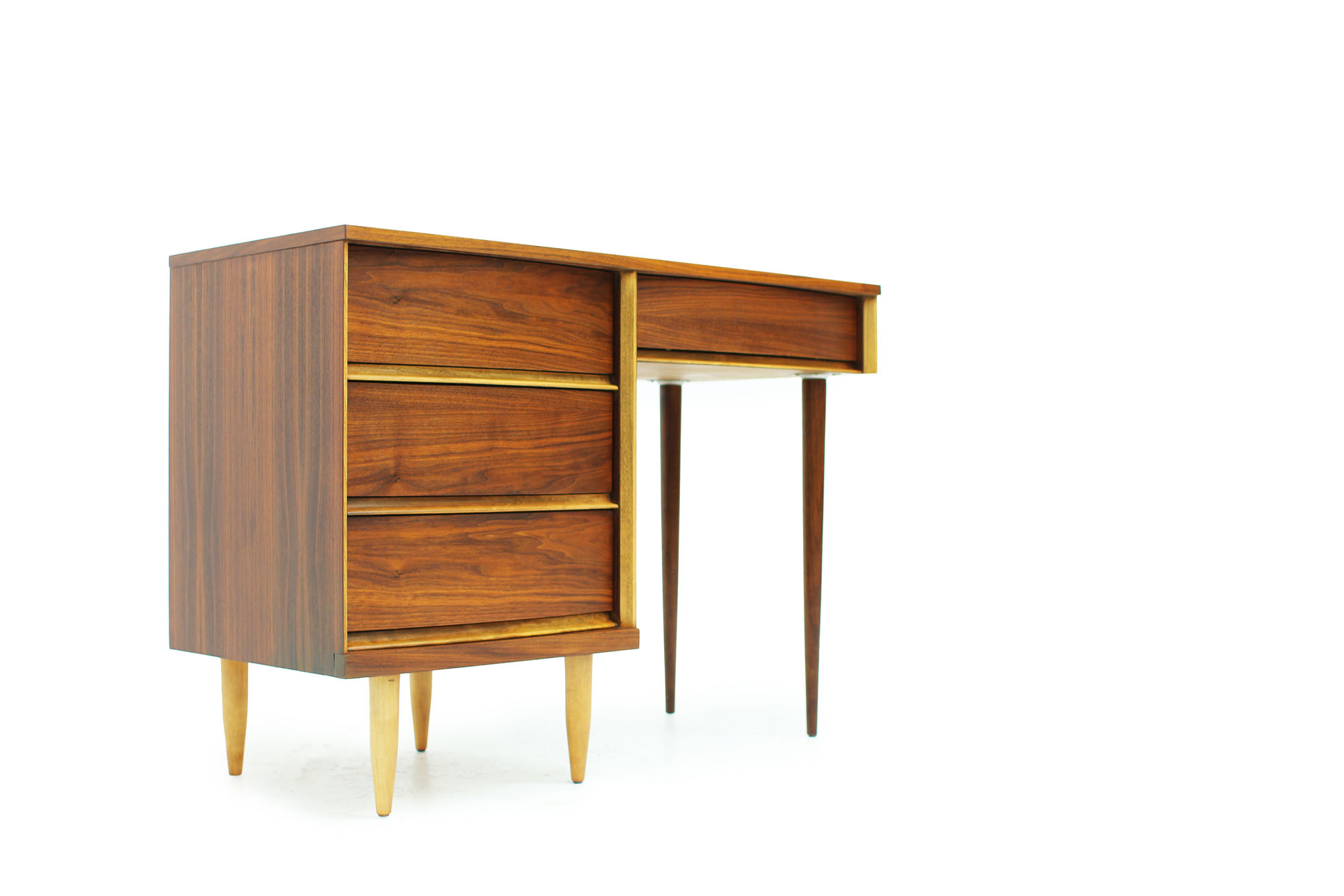 MCM Walnut Desk with Curved Drawers and long Legs (4).jpg