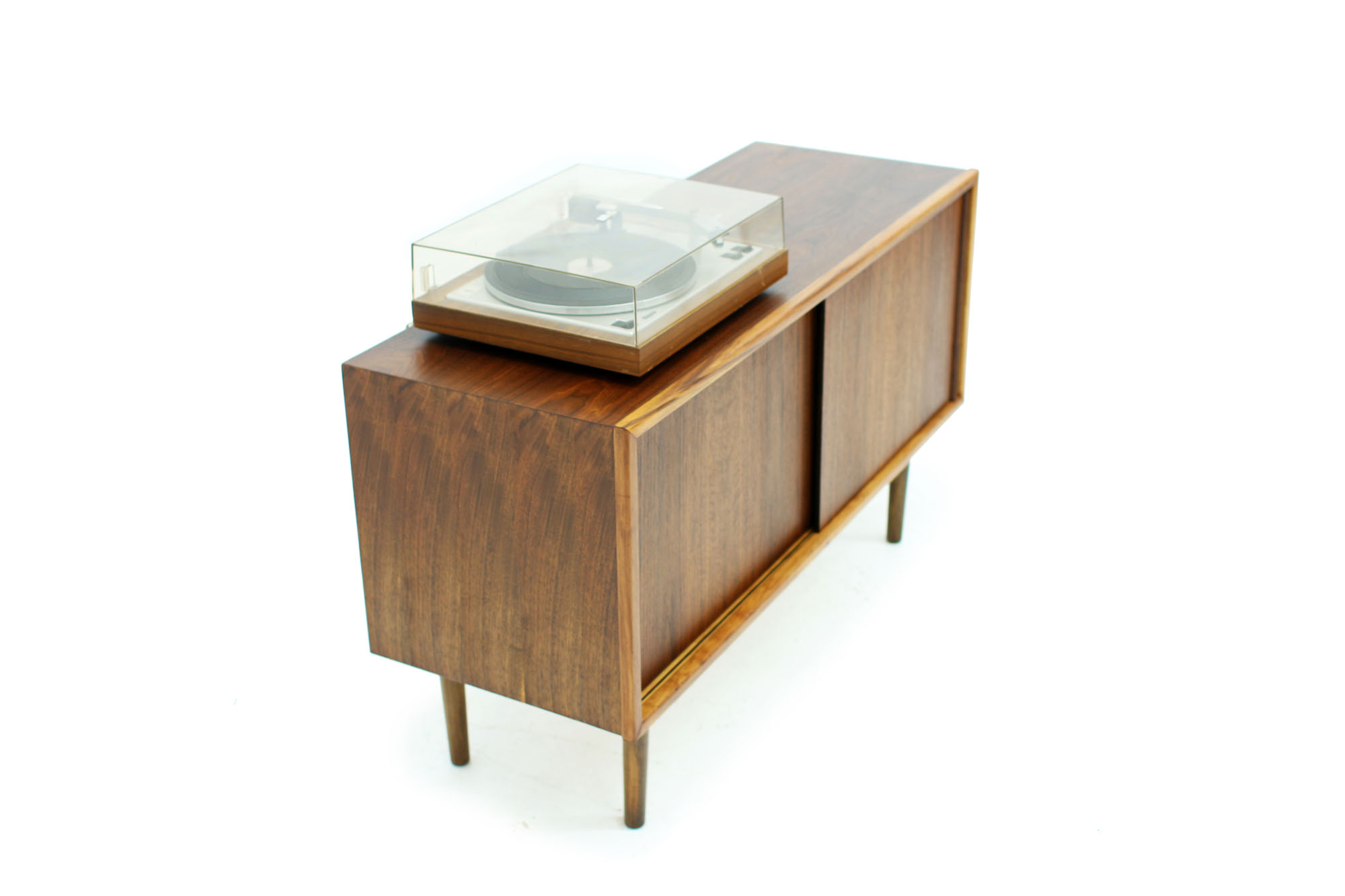 Mid Century Modern Walnut Record Cabinet (1).jpg