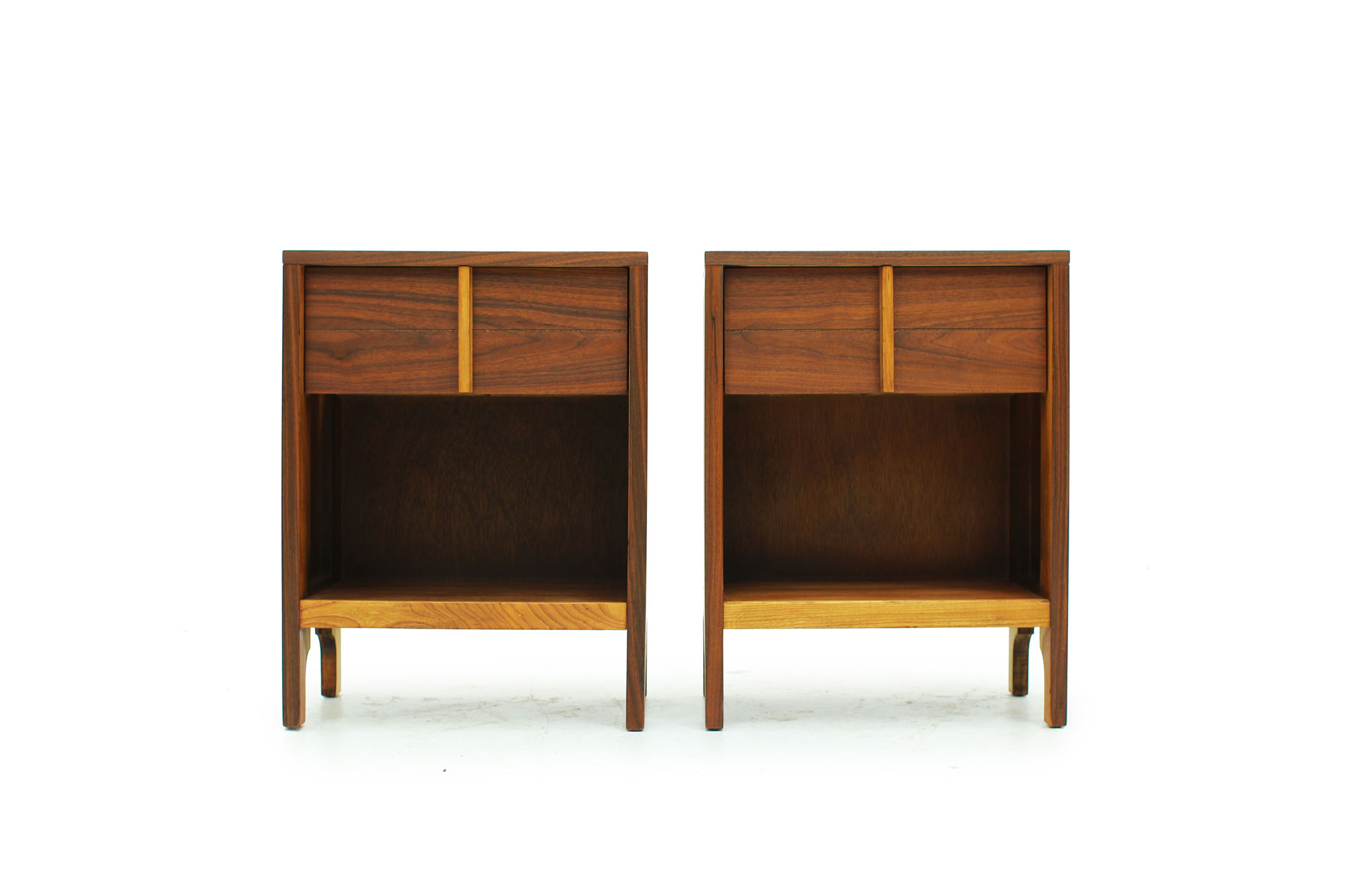 Pair of Walnut Bedside Night Stands Mid century modern design (4).jpg