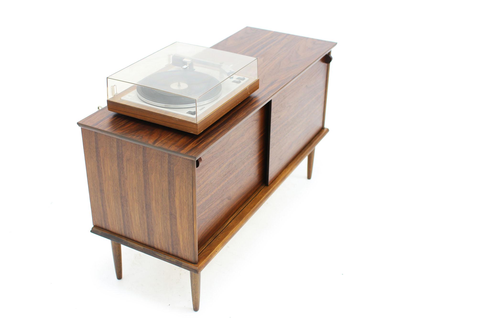 Retro Two Door Walnut Record Storage Sideboard Item 0547