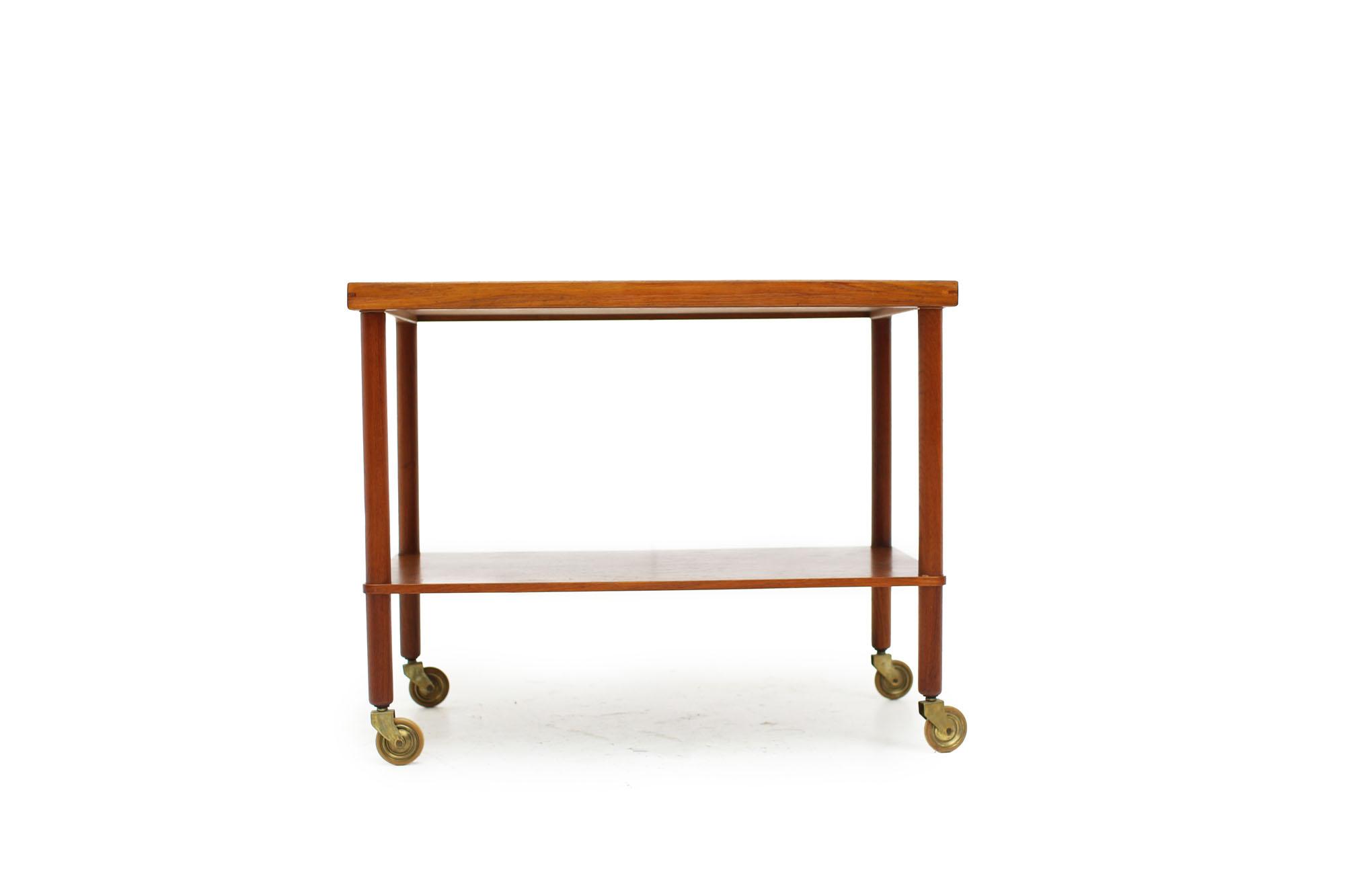 Scandinavian Teak Bar Cart Made in Denmark (1).jpg