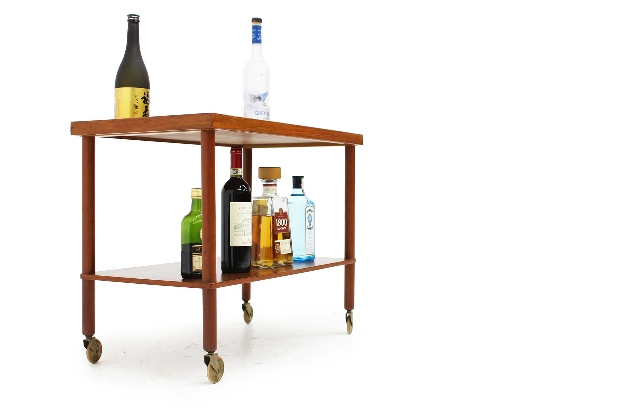 Scandinavian Teak Bar Cart Made in Denmark (6).jpg