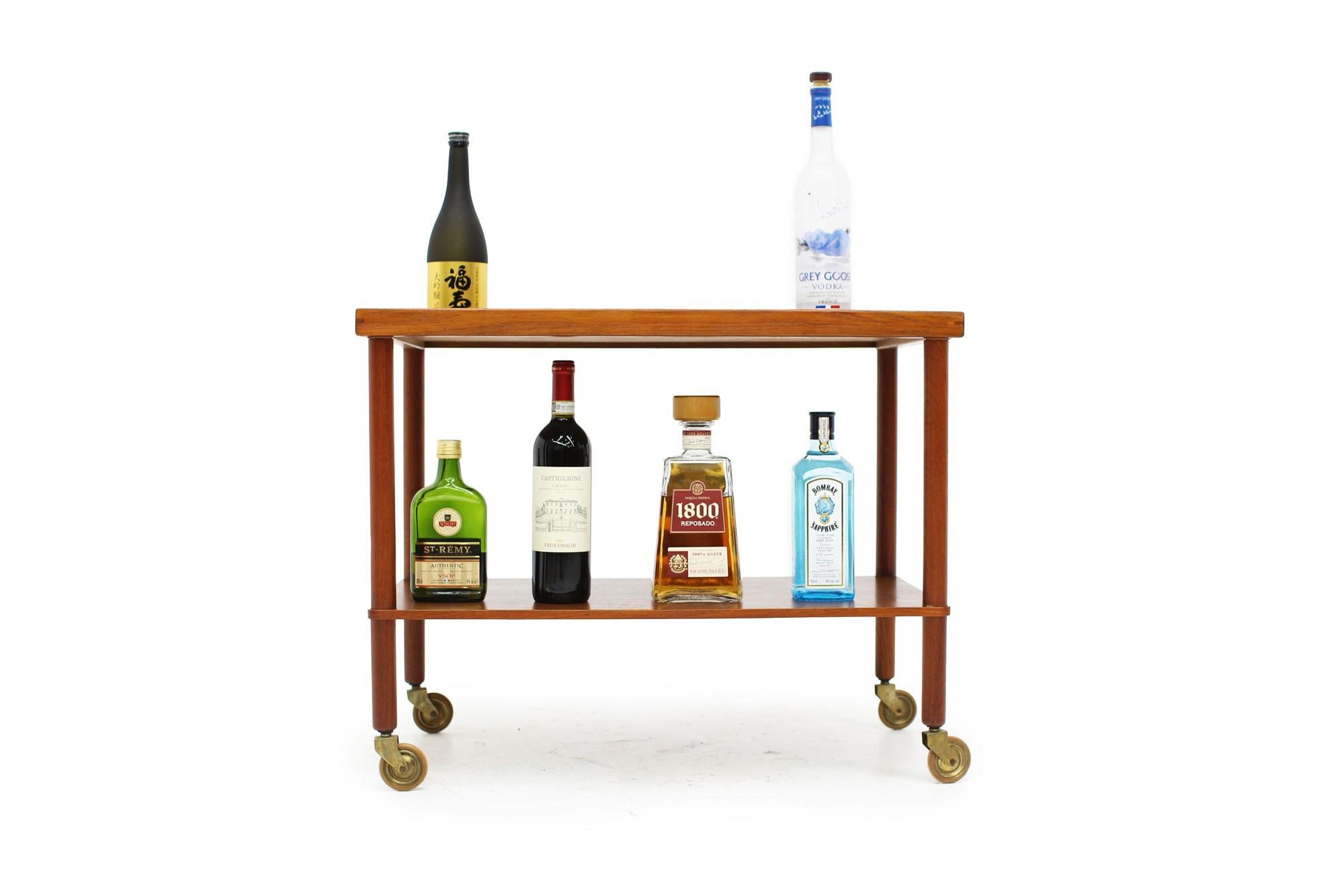Scandinavian Teak Bar Cart Made in Denmark (7).jpg