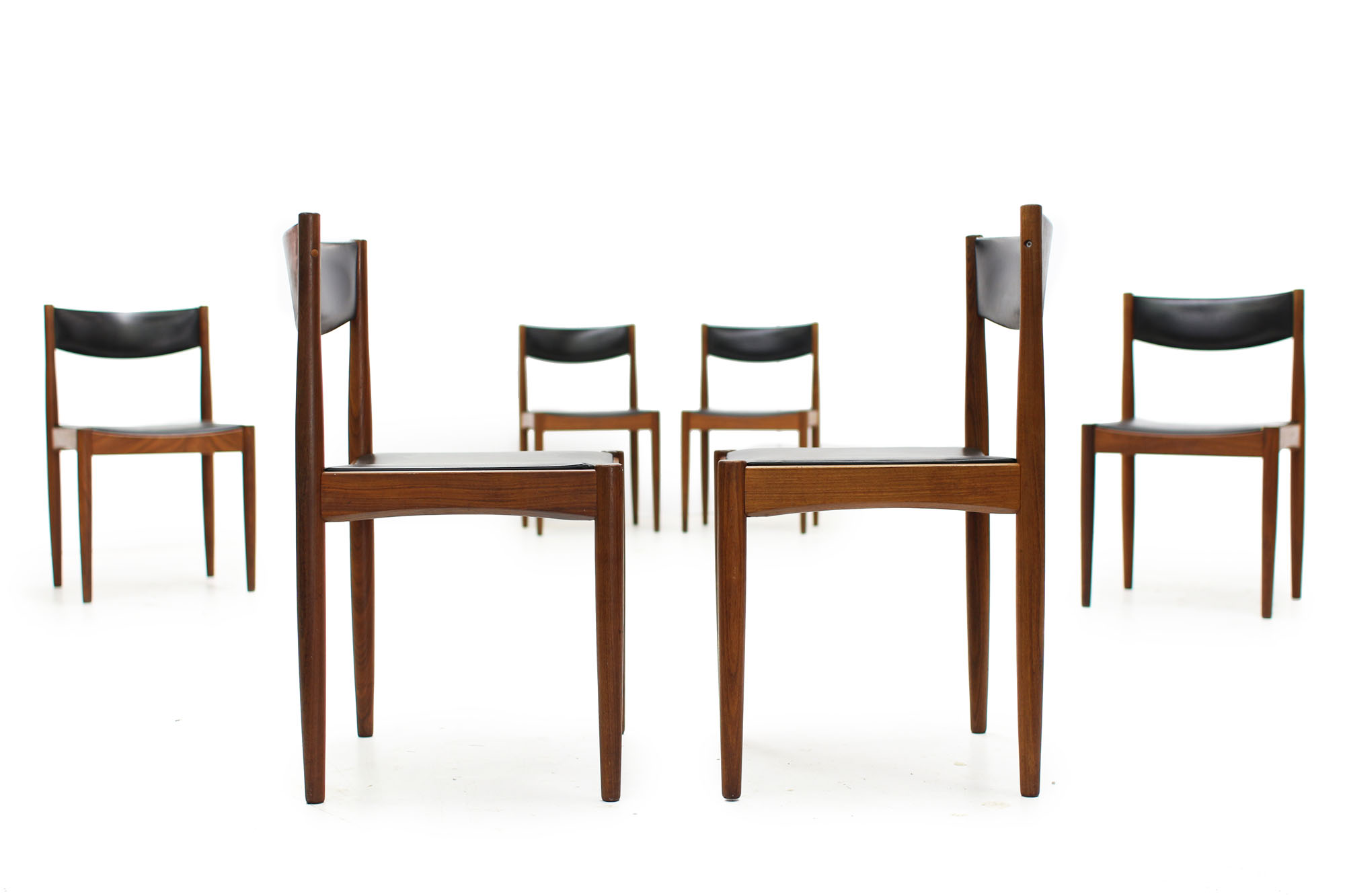 Set of 6 Mid Century Teak Dining Chairs designed by Poul Volther Made in Denmark (6).jpg