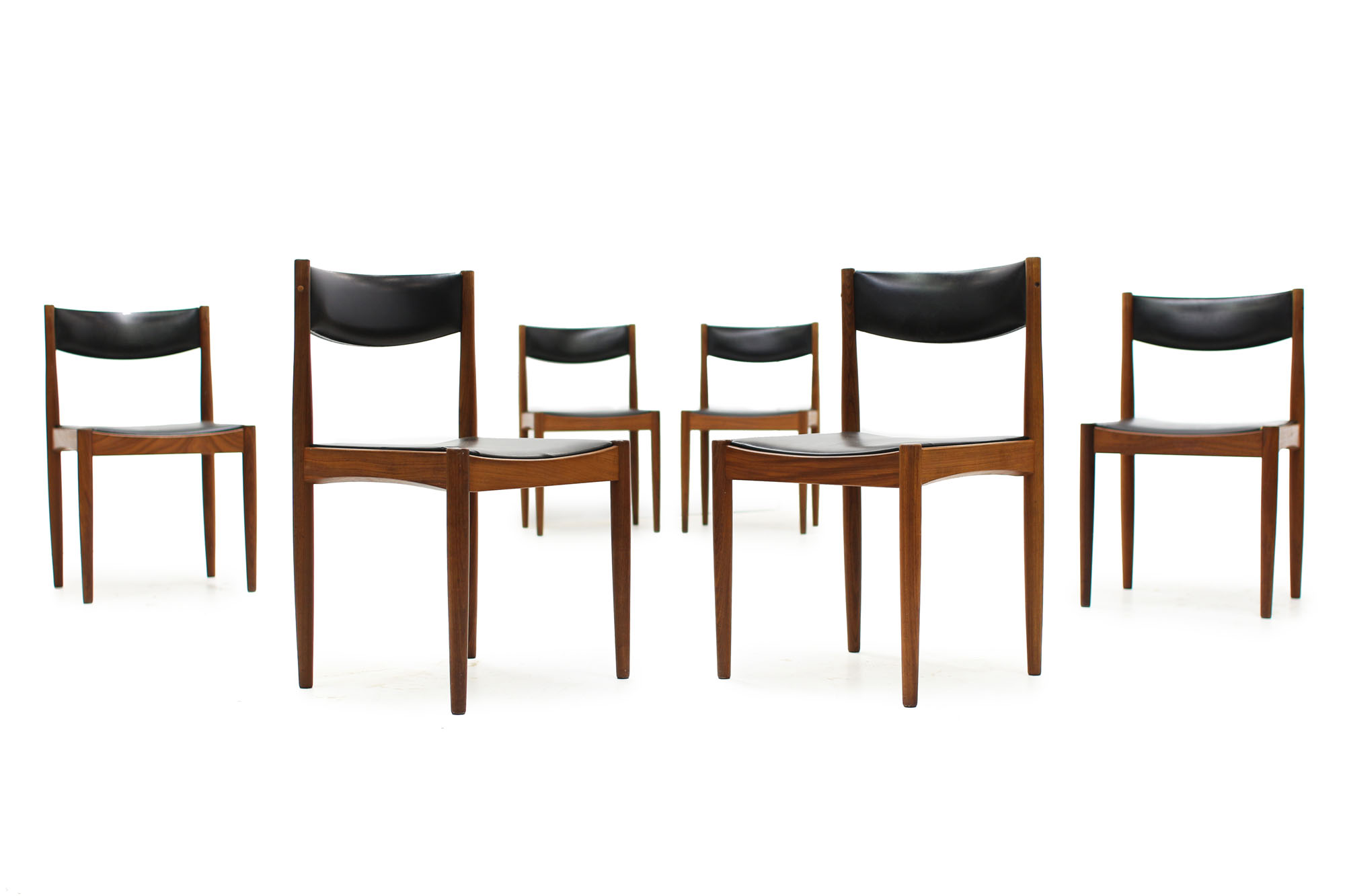 Set of 6 Mid Century Teak Dining Chairs designed by Poul Volther Made in Denmark (7).jpg