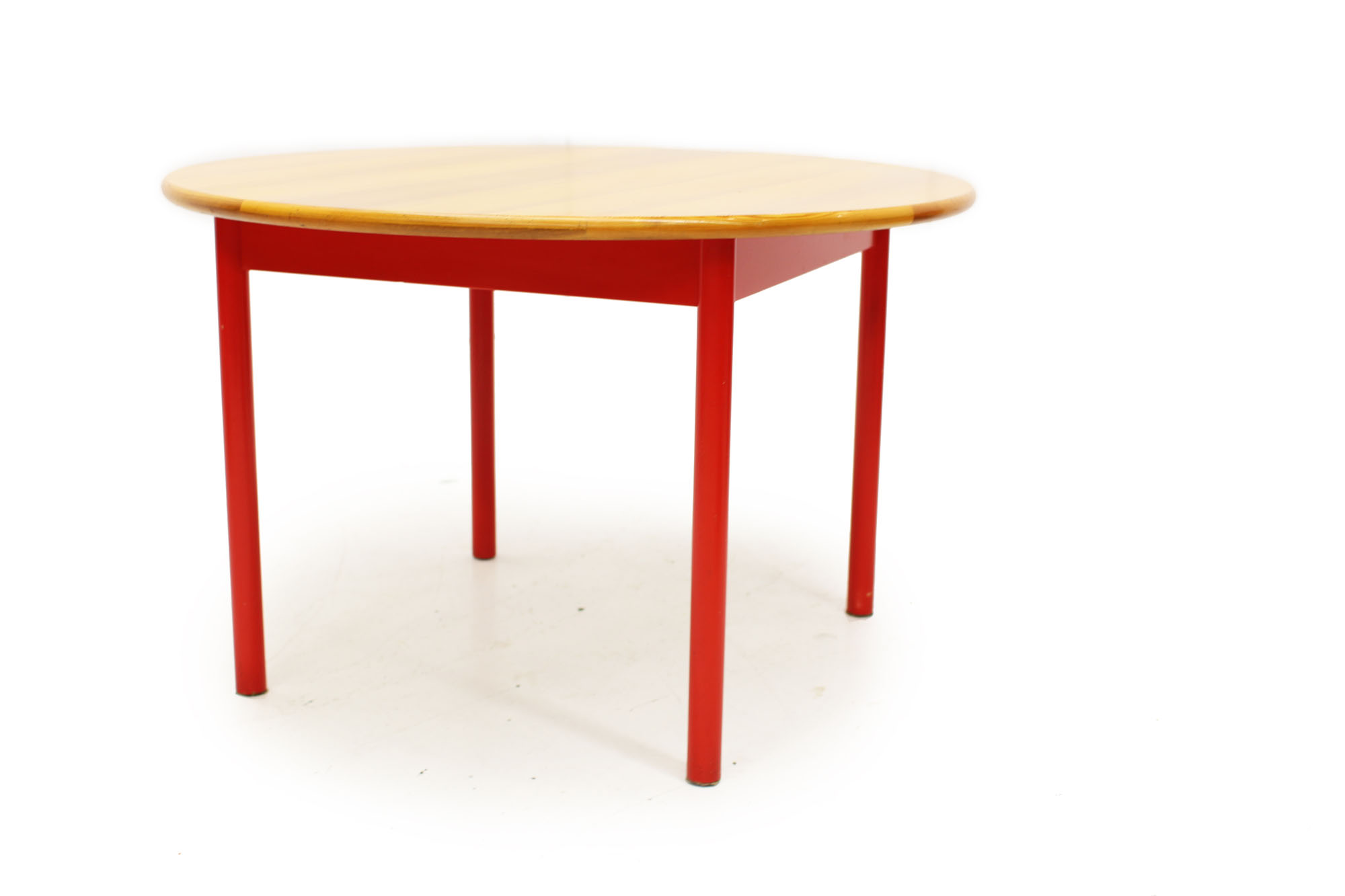 Swedish Made Dining Set with Red Fabric (5).jpg