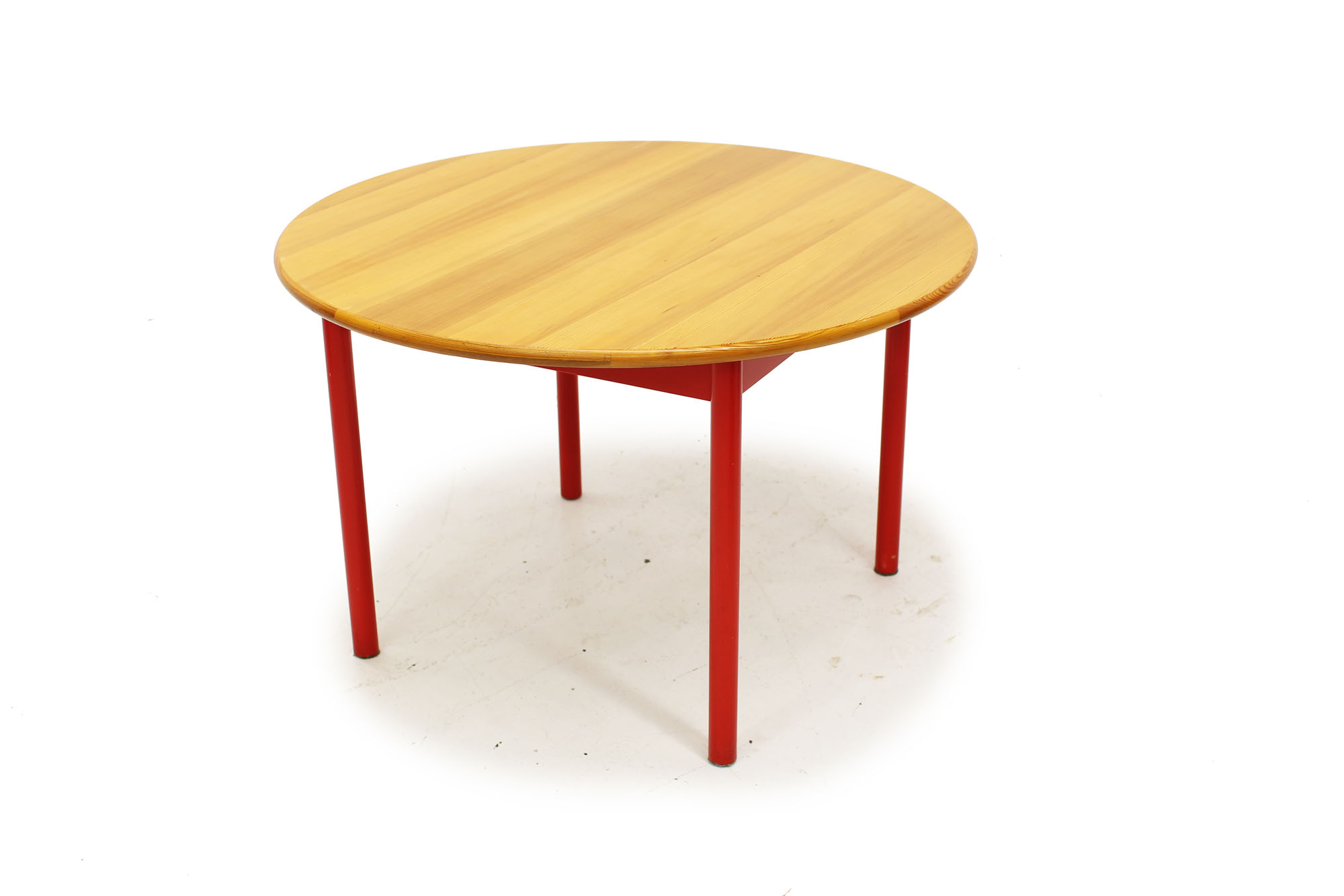 Swedish Made Dining Set with Red Fabric (6).jpg