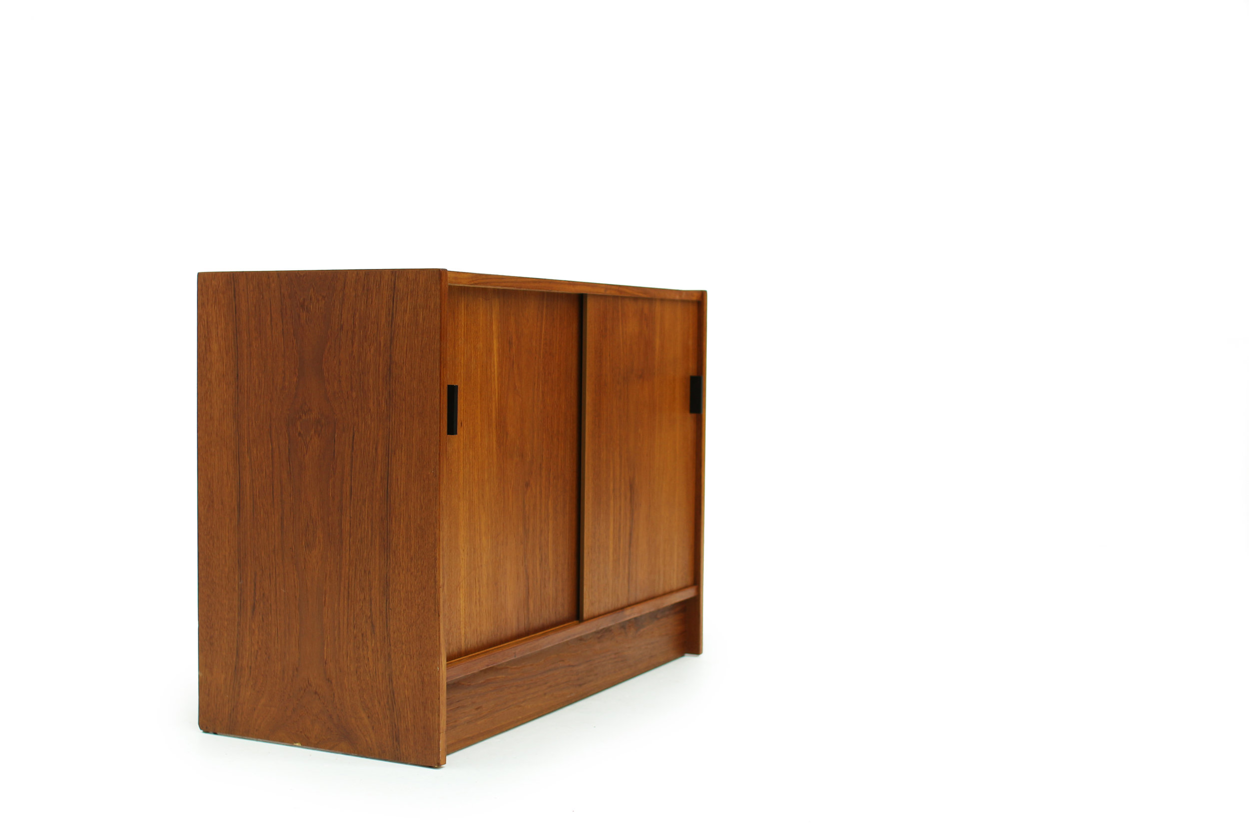 Mid Century Teak Record Cabinet with  Equipment Storage (3).jpg