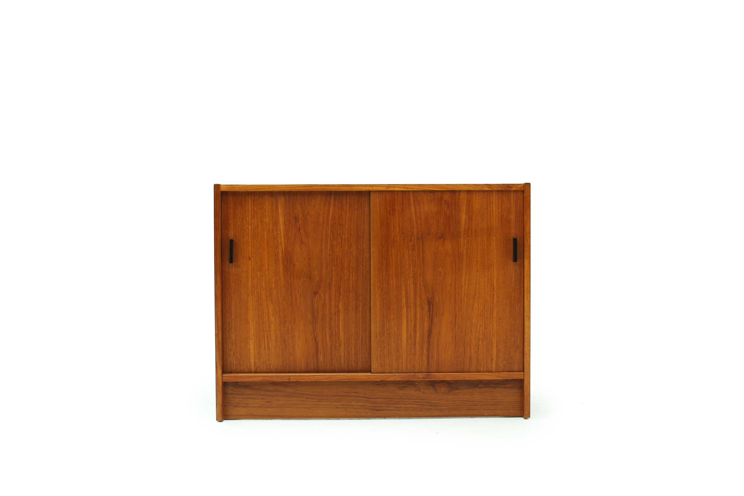 Mid Century Teak Record Cabinet with  Equipment Storage (1).jpg