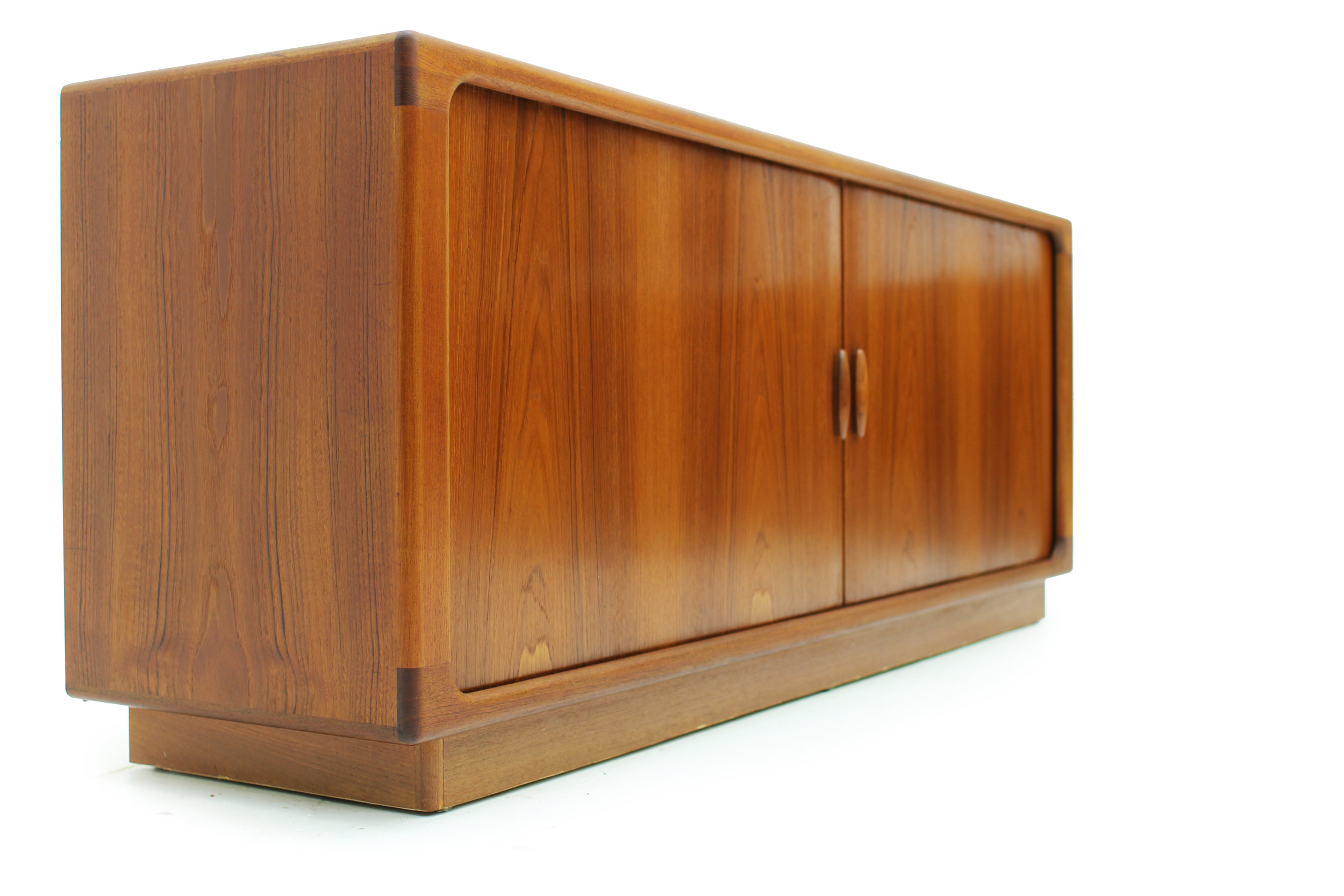 Danish Teak Sideboard with Tambour Doors Made by Dyrlund (4).jpg