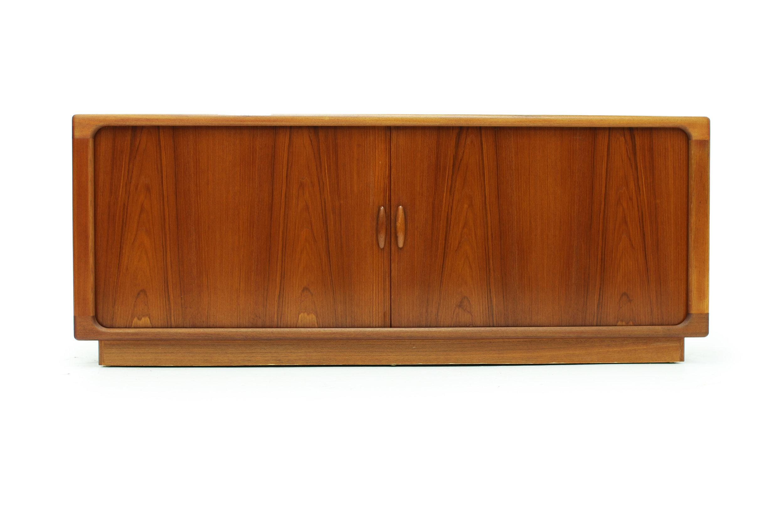 Danish Teak Sideboard with Tambour Doors Made by Dyrlund (1).jpg