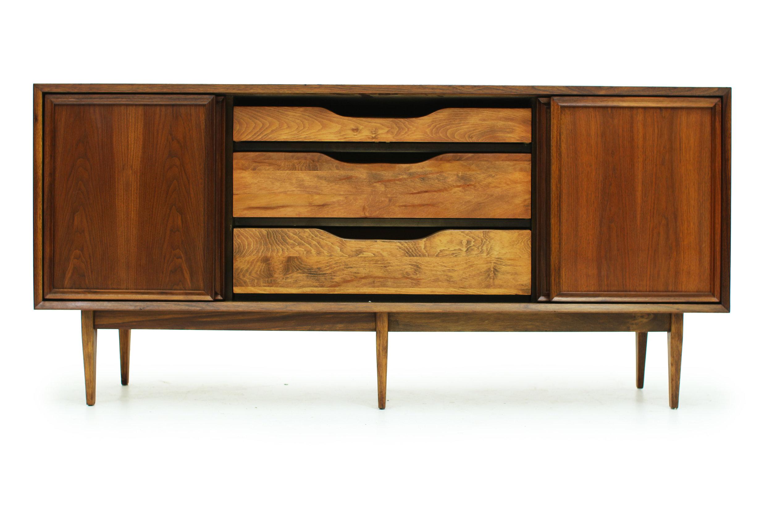 Vintage Walnut Sideboard with Sliding Doors (6).jpg