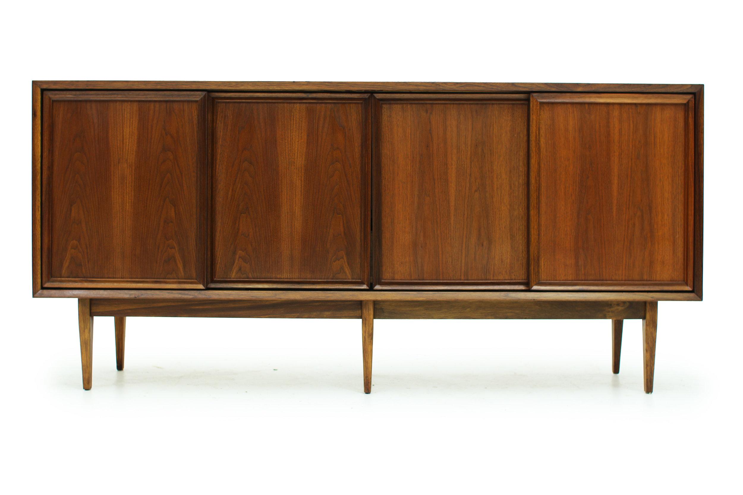 Vintage Walnut Sideboard with Sliding Doors (1).jpg