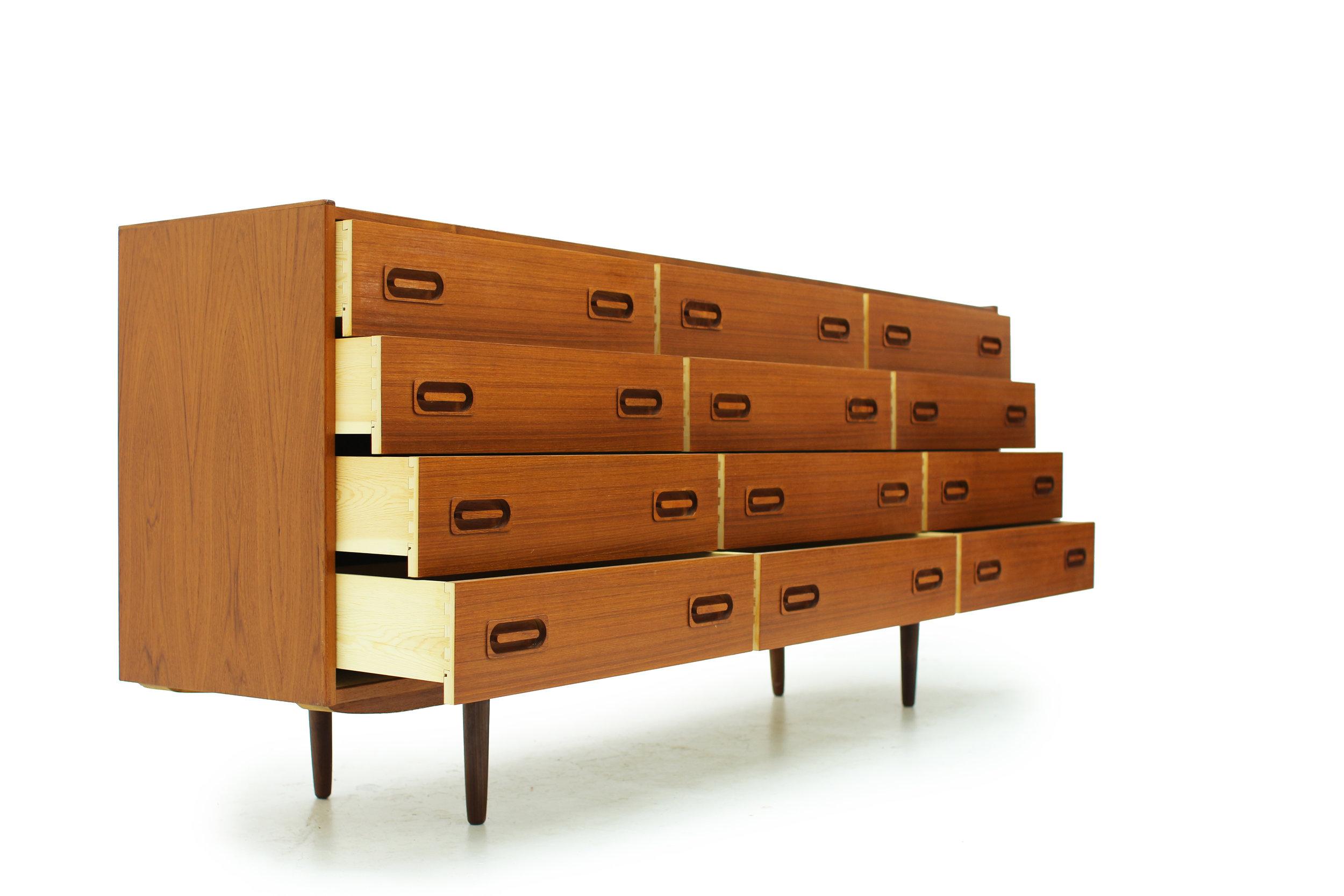 Danish Teak 12 Drawer Dresser by Dyrlund (4).jpg