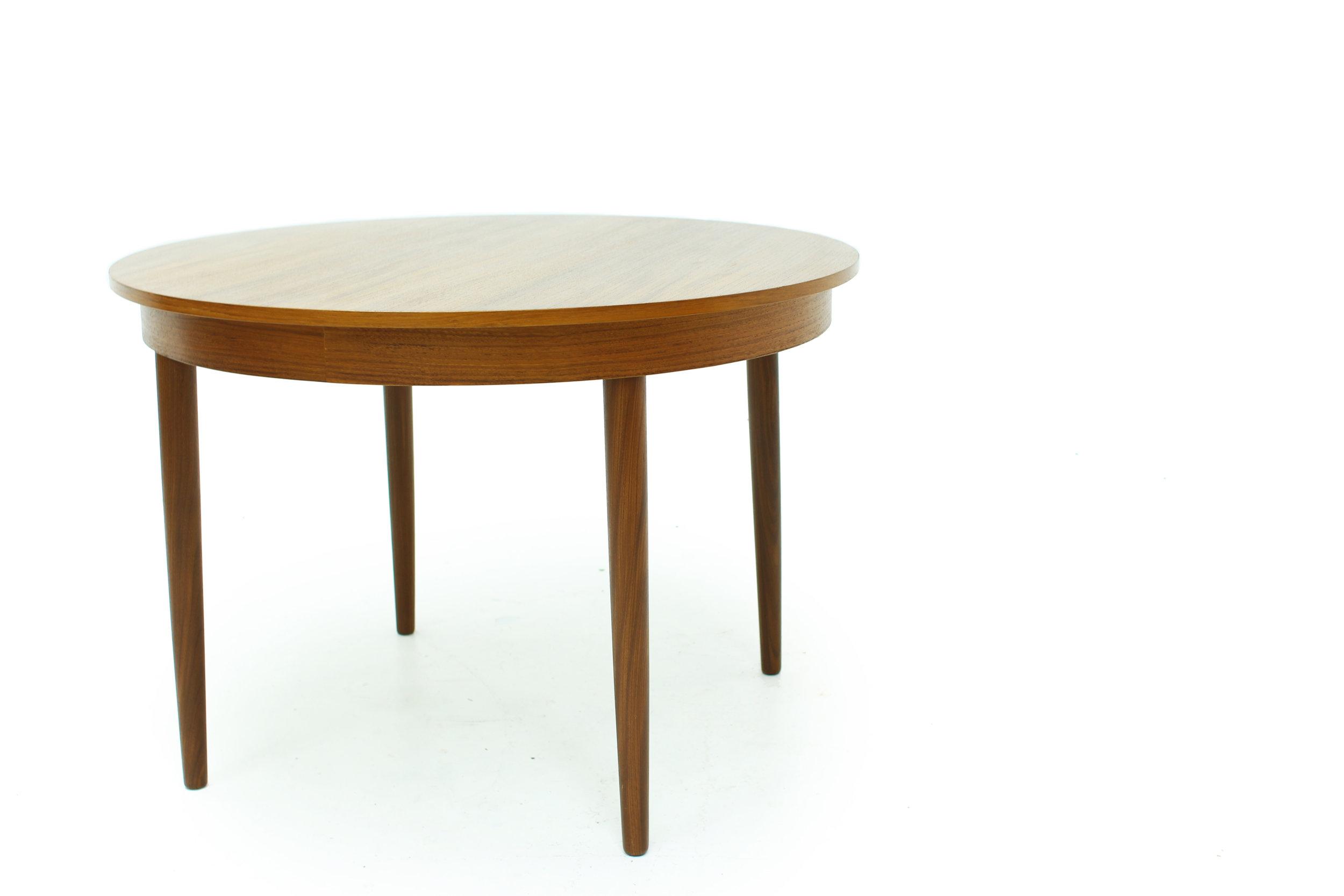MCM Round Teak Dining Table Made in Denmark(4).jpg